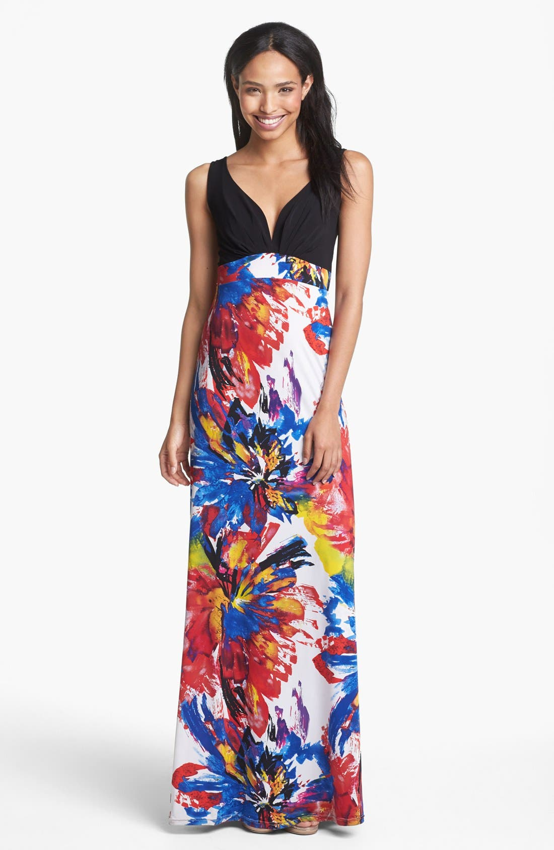 Main Image - Abi Ferrin 'India' Print Sleeveless Maxi Dress