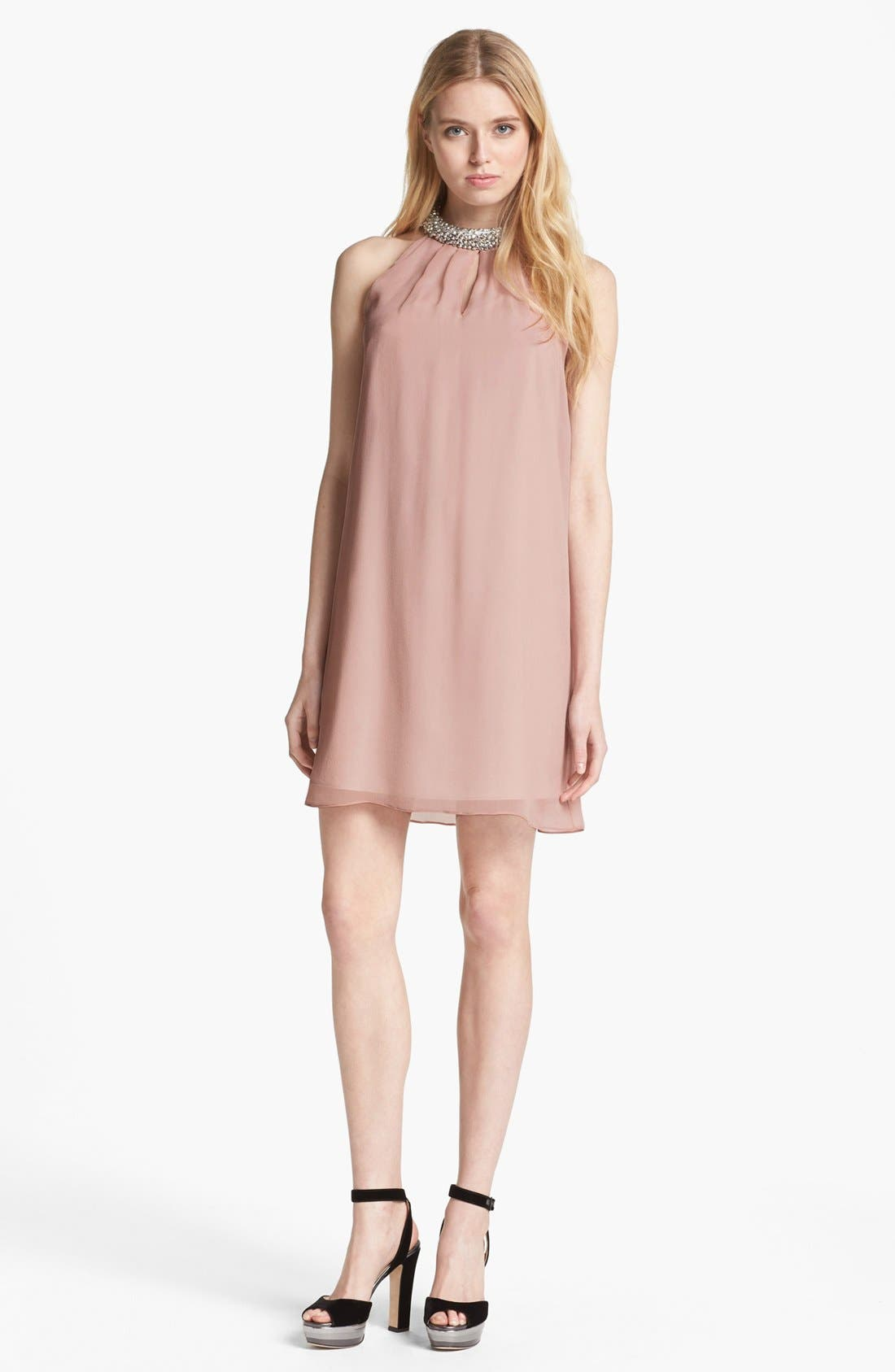 Alternate Image 1 Selected - Diane von Furstenberg 'Lainey' Beaded Silk Shift Dress
