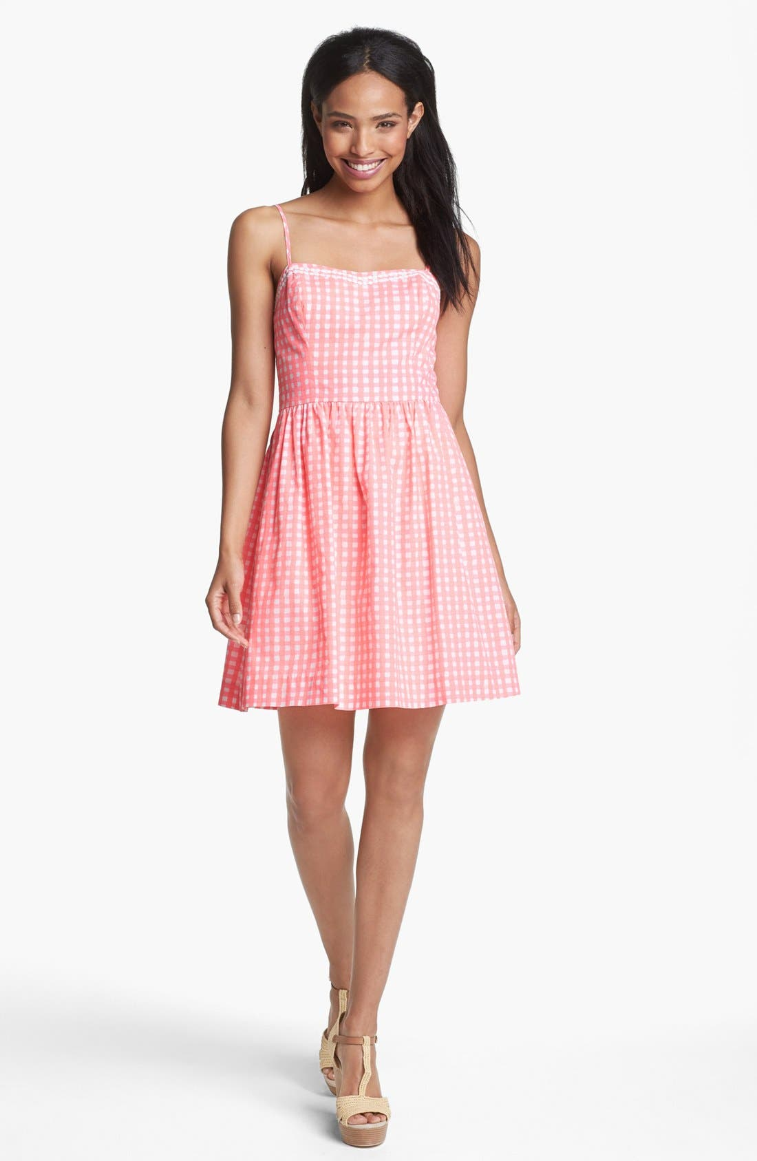 Alternate Image 1 Selected - Lilly Pulitzer® 'Bethany' Gingham Fit & Flare Dress