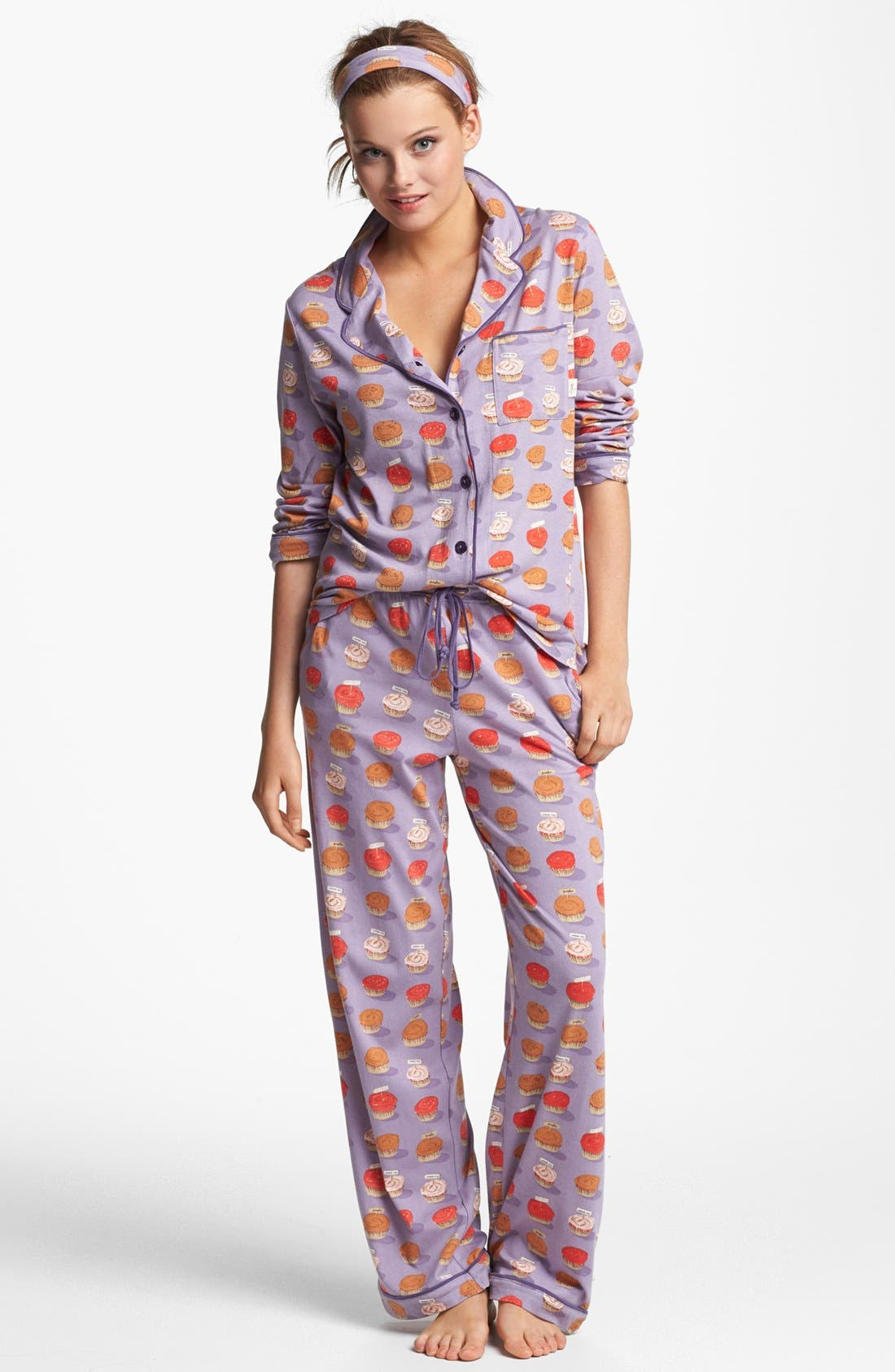Alternate Image 1 Selected - Munki Munki Print Pajamas