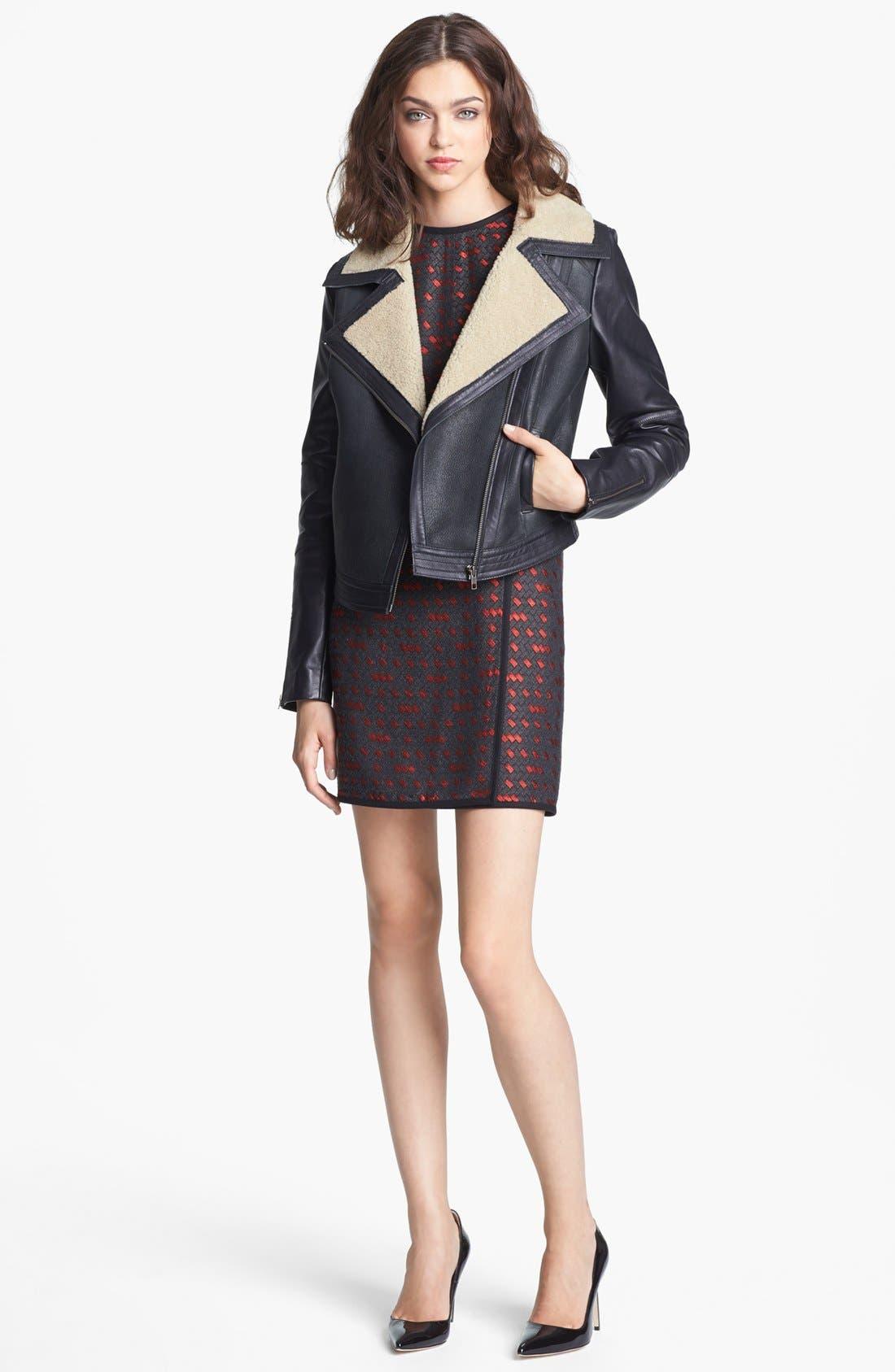 Alternate Image 2  - Miss Wu Genuine Shearling Moto Jacket (Nordstrom Exclusive)