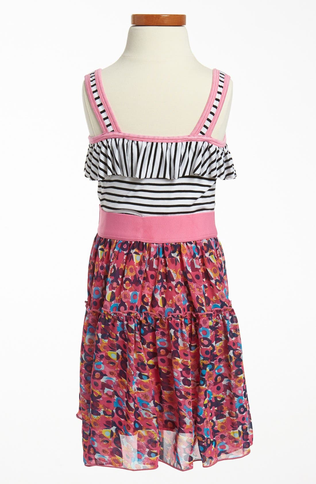 Alternate Image 2  - Truly Me Sleeveless Stripe Dress (Little Girls & Big Girls)