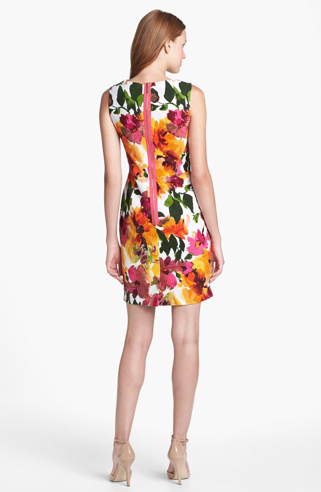 Alternate Image 2  - Donna Ricco Floral Print Sheath Dress