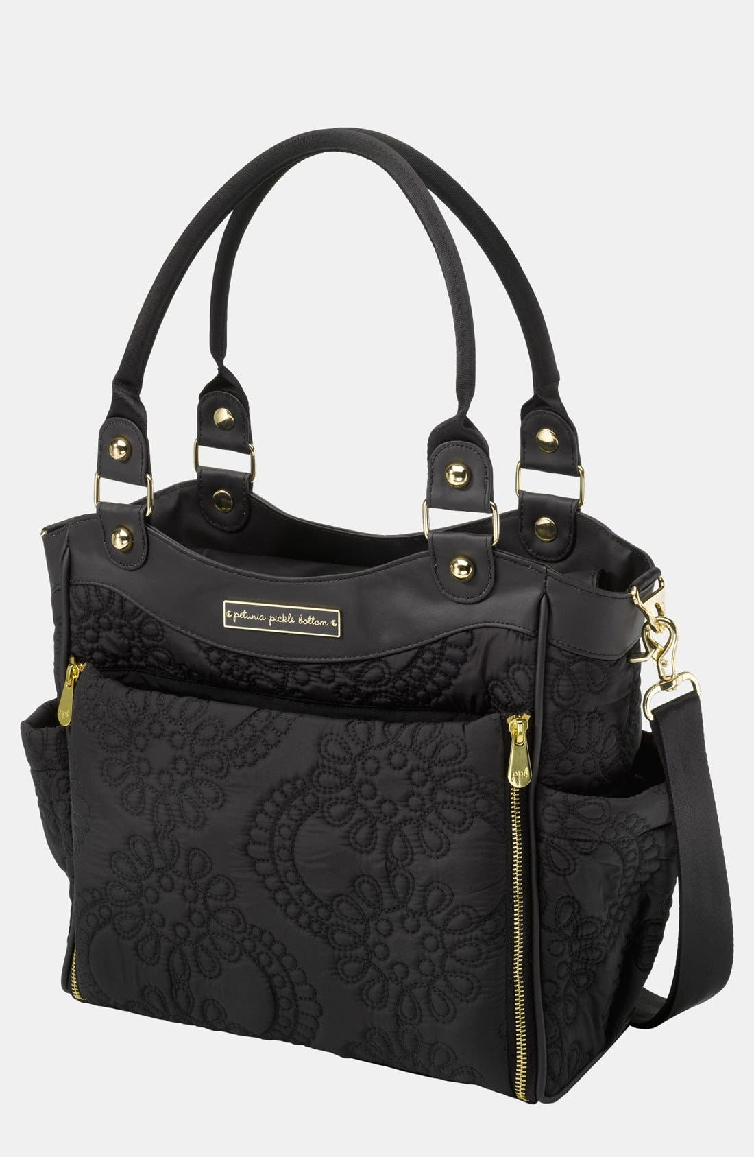 Alternate Image 1 Selected - Petunia Pickle Bottom 'City Carryall' Embossed Diaper Bag (Special Edition)