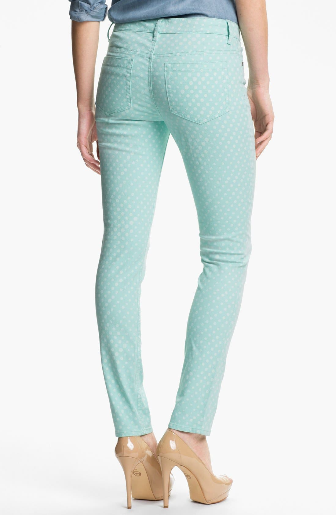 Alternate Image 2  - Two by Vince Camuto Polka Dot Straight Leg Jeans (Petite)