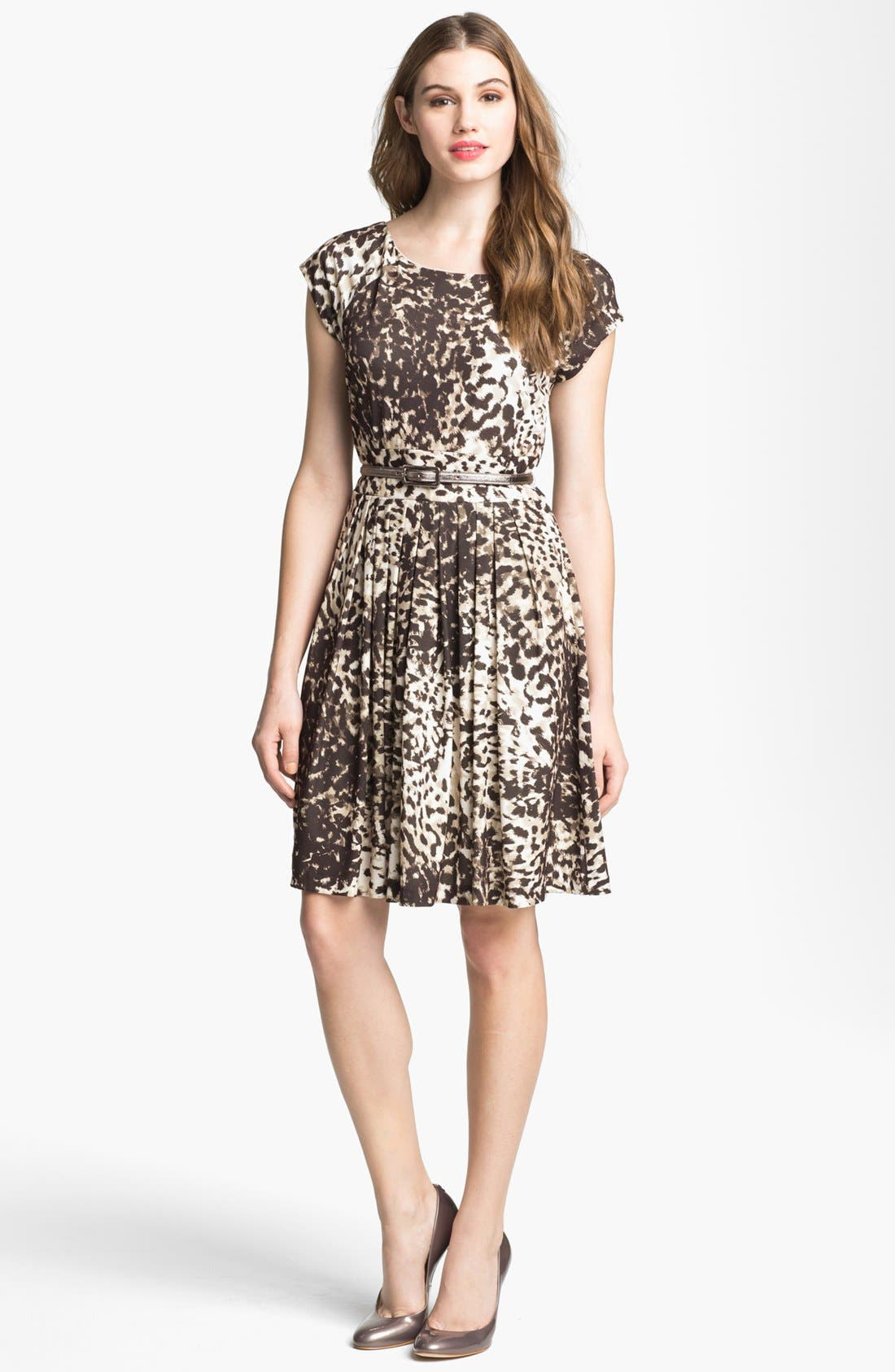 Alternate Image 1 Selected - Eliza J Print Jersey Fit & Flare Dress (Online Only)