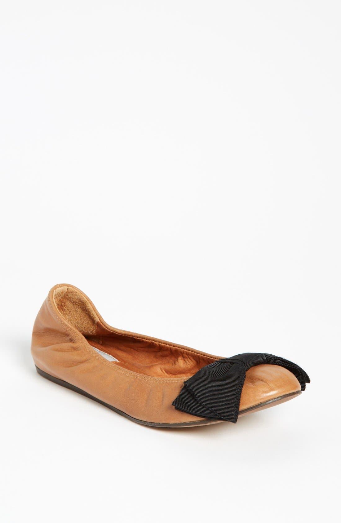 Alternate Image 1 Selected - Lanvin Bow Detail Ballet Flat