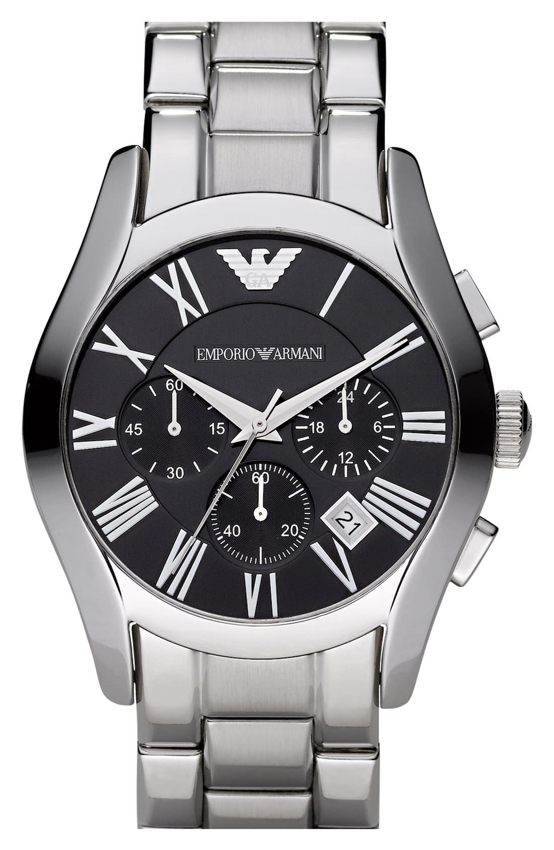 Main Image - Emporio Armani Stainless Steel Chronograph Watch, 43mm