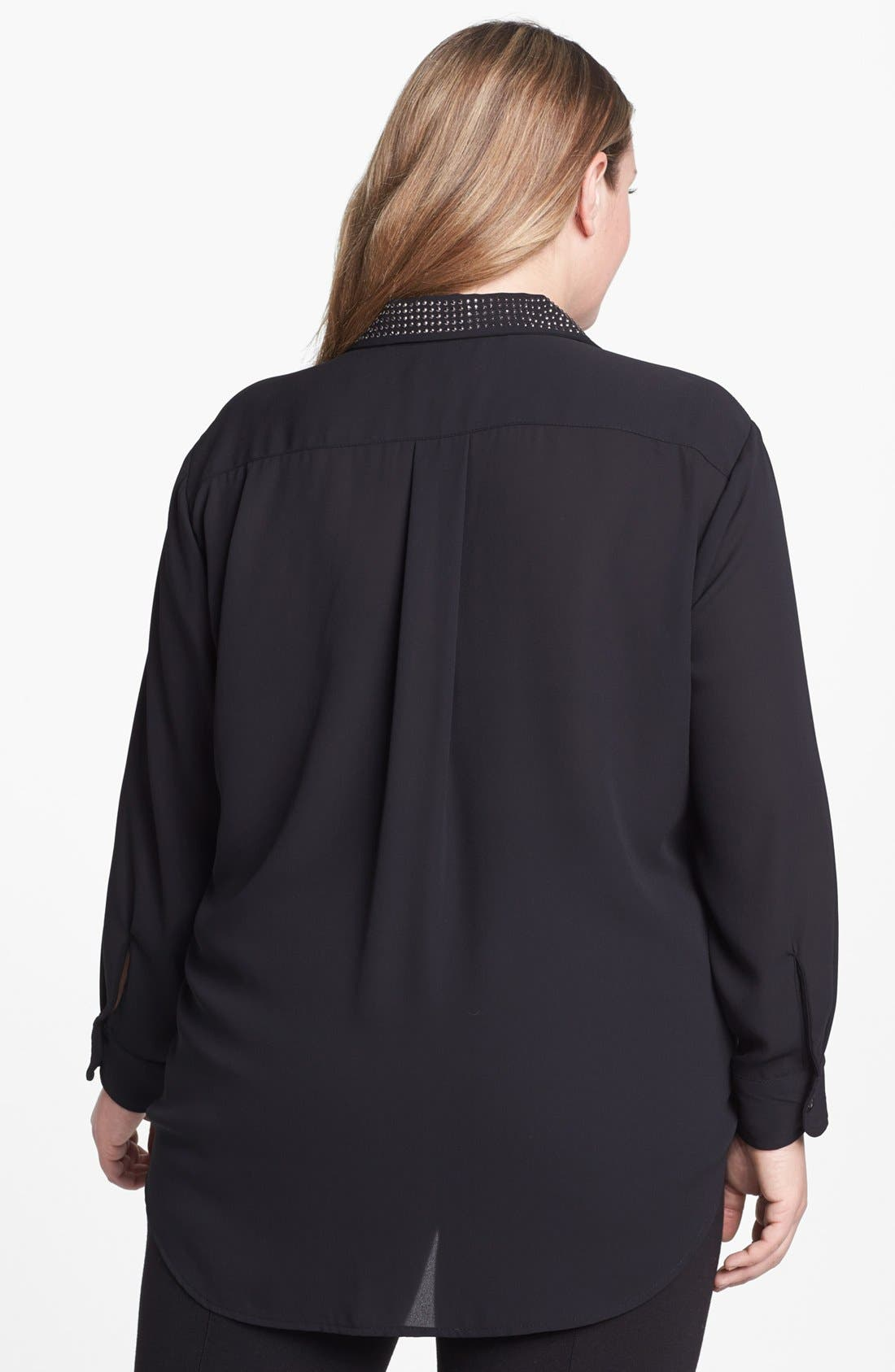 Alternate Image 2  - Karen Kane Studded Shirt (Plus Size)