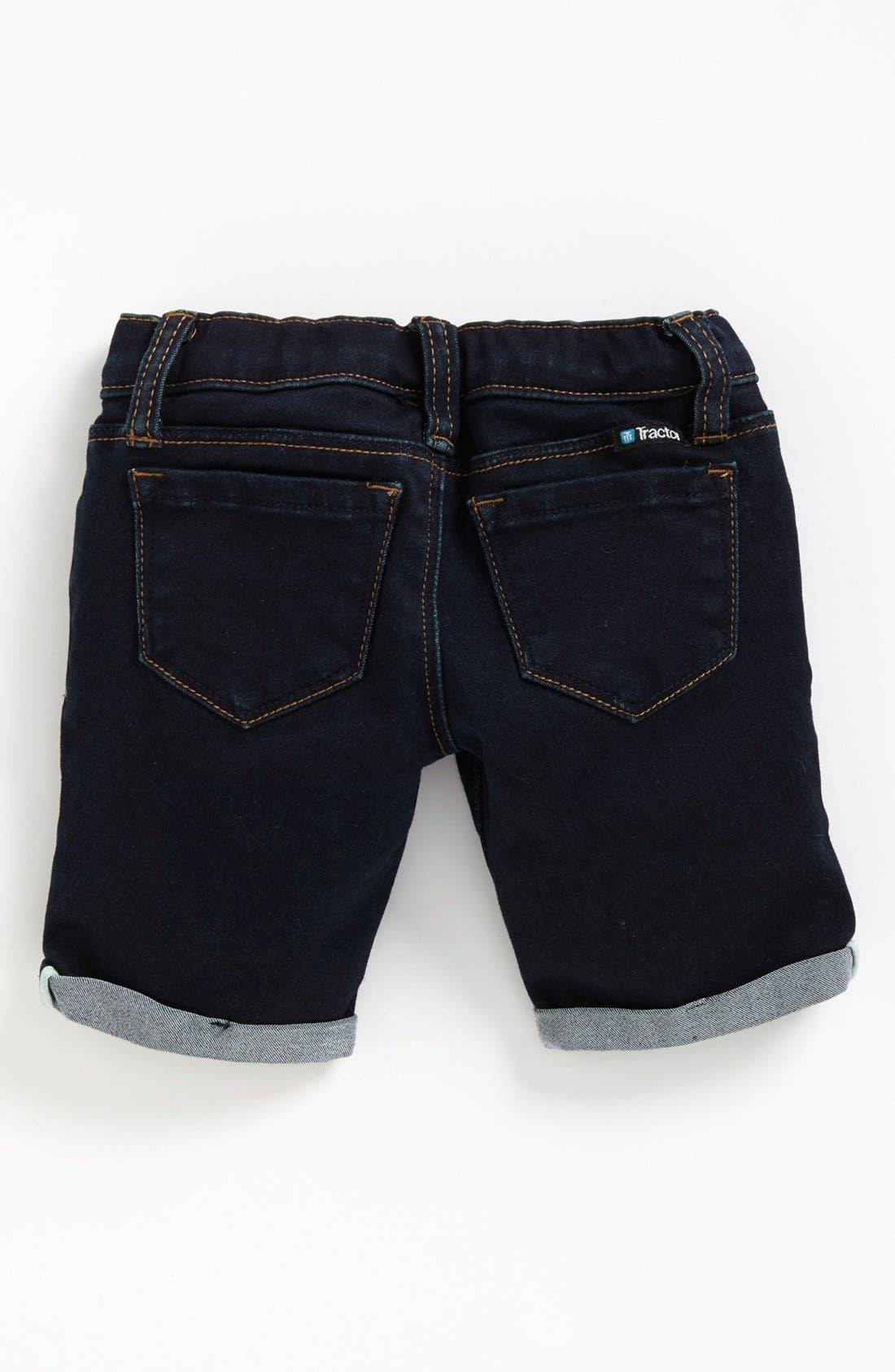 Alternate Image 1 Selected - Tractor Roll Cuff Denim Bermuda Shorts (Big Girls)