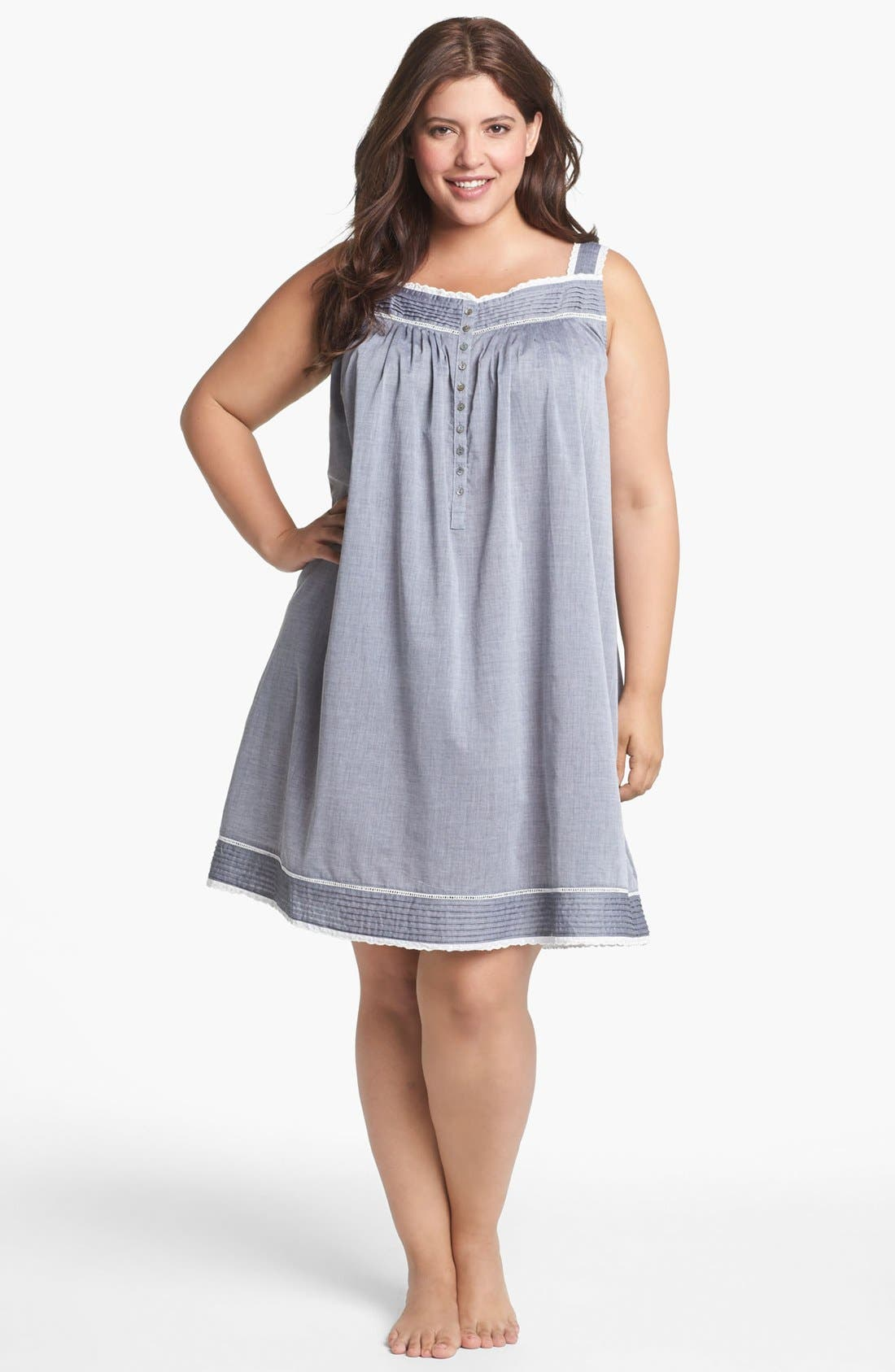 Alternate Image 1 Selected - Eileen West 'Delightful Day' Short Nightgown (Plus Size)