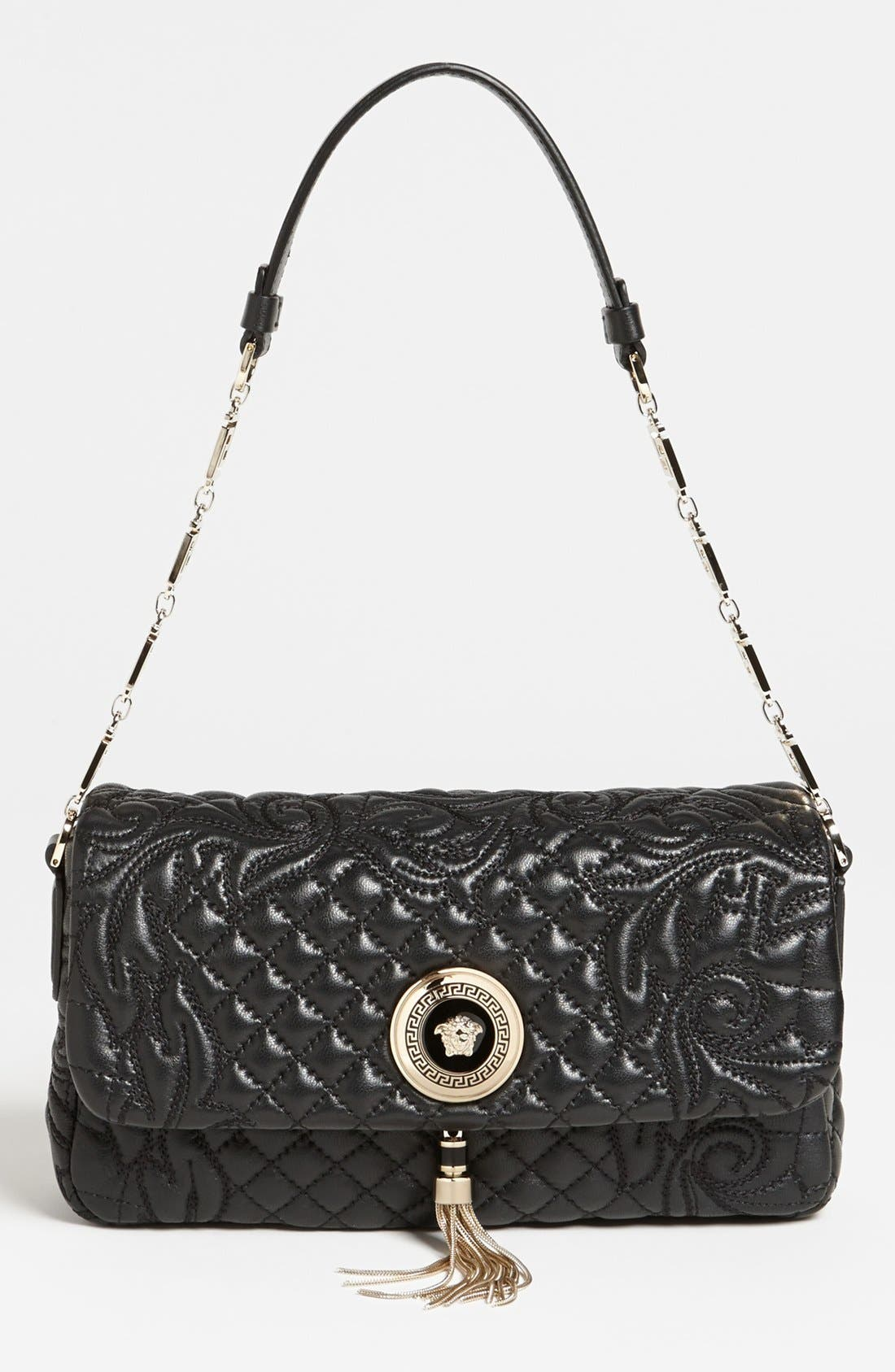 Alternate Image 1 Selected - Versace 'Linea' Leather Shoulder Bag