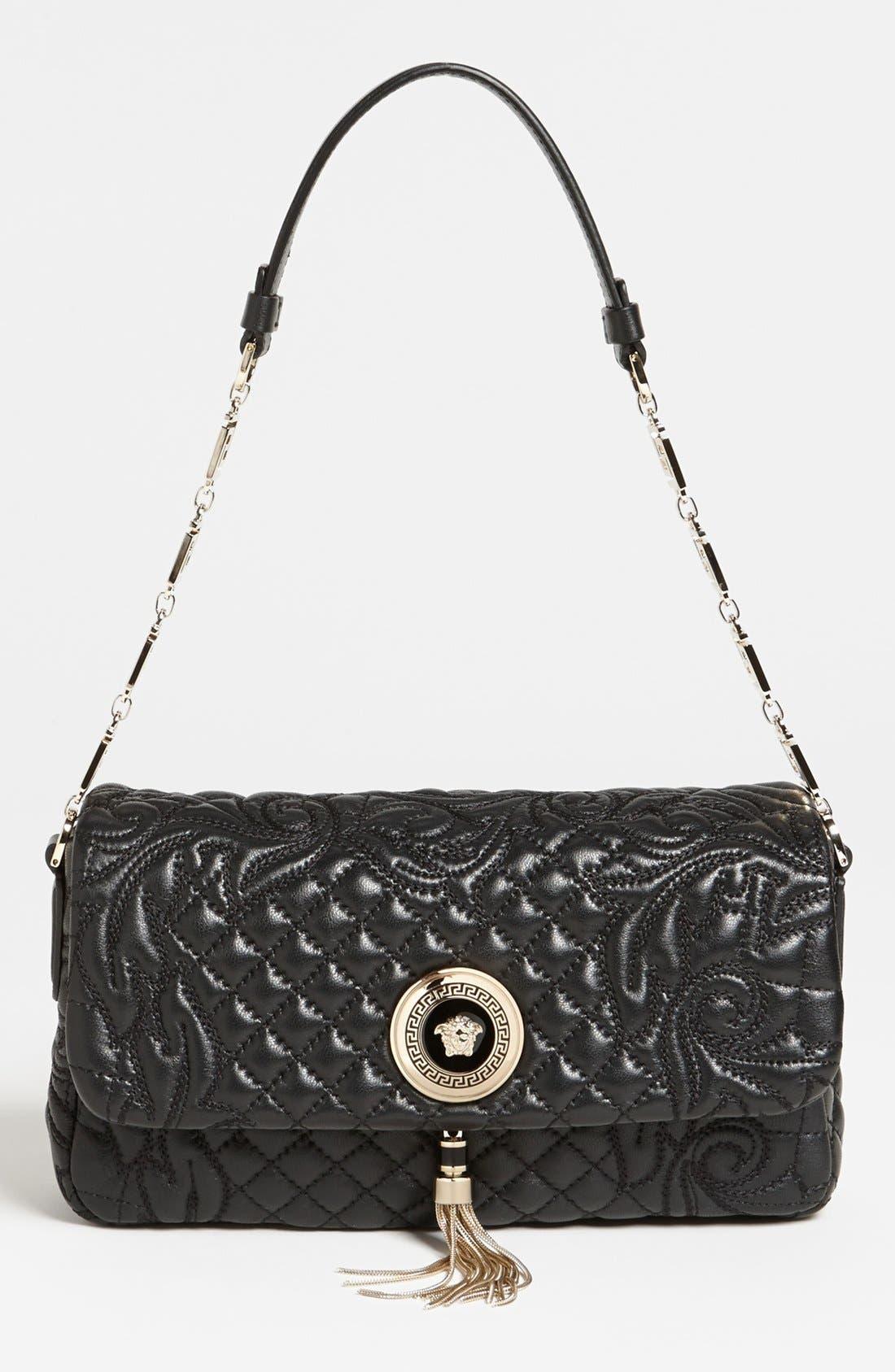 Main Image - Versace 'Linea' Leather Shoulder Bag