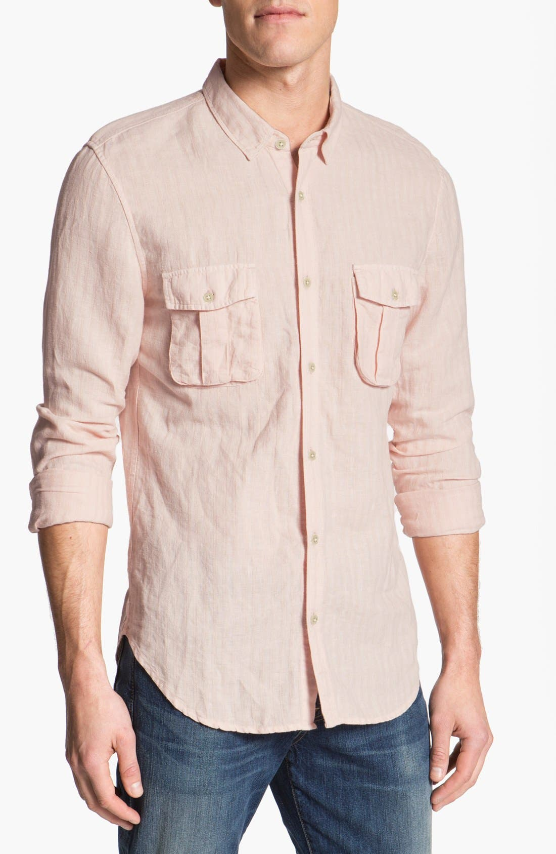 Alternate Image 1 Selected - 7 For All Mankind® Linen & Cotton Shirt