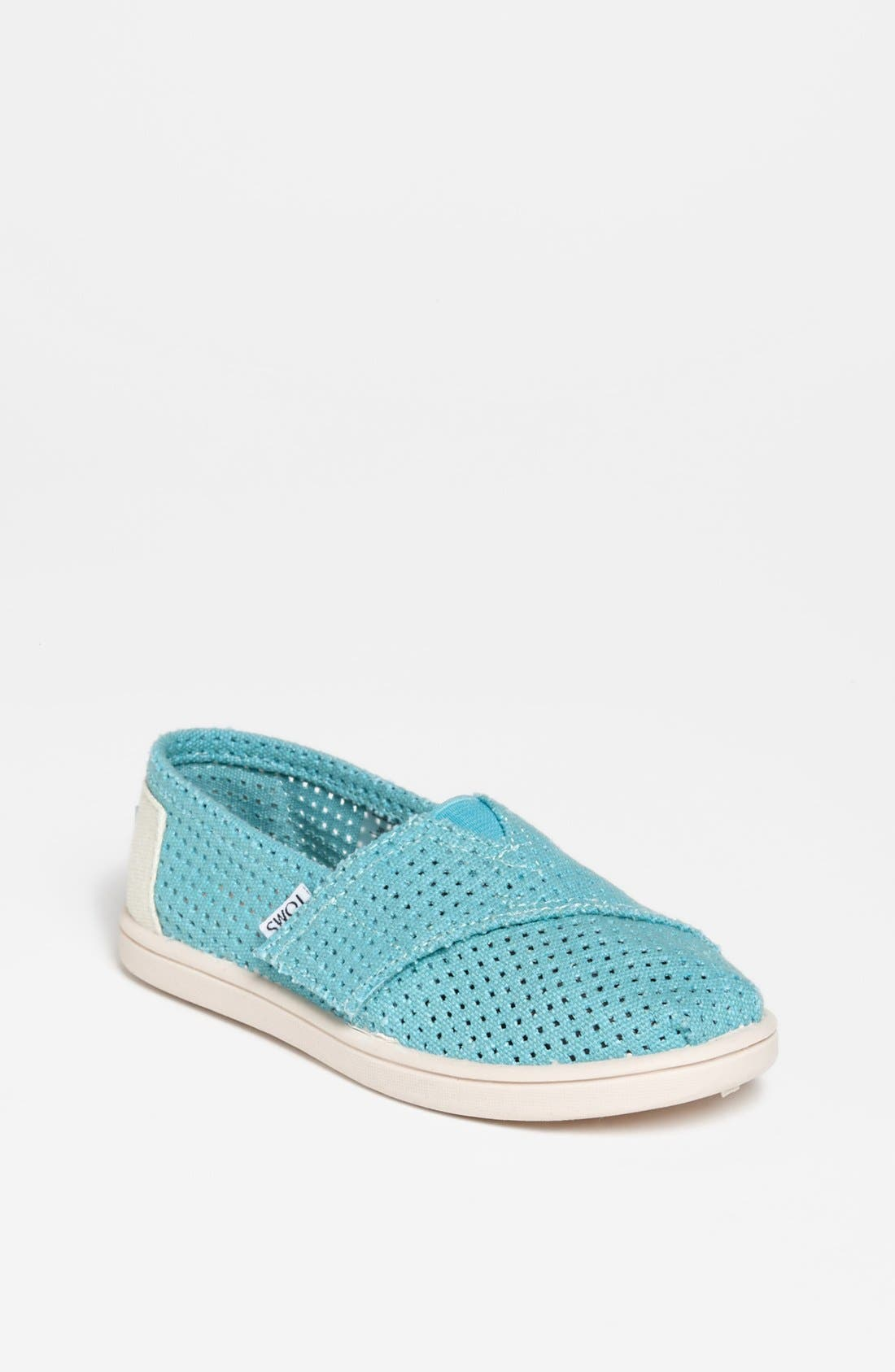 Main Image - TOMS 'Classic - Tiny' Perforated Slip-On (Baby, Walker & Toddler)