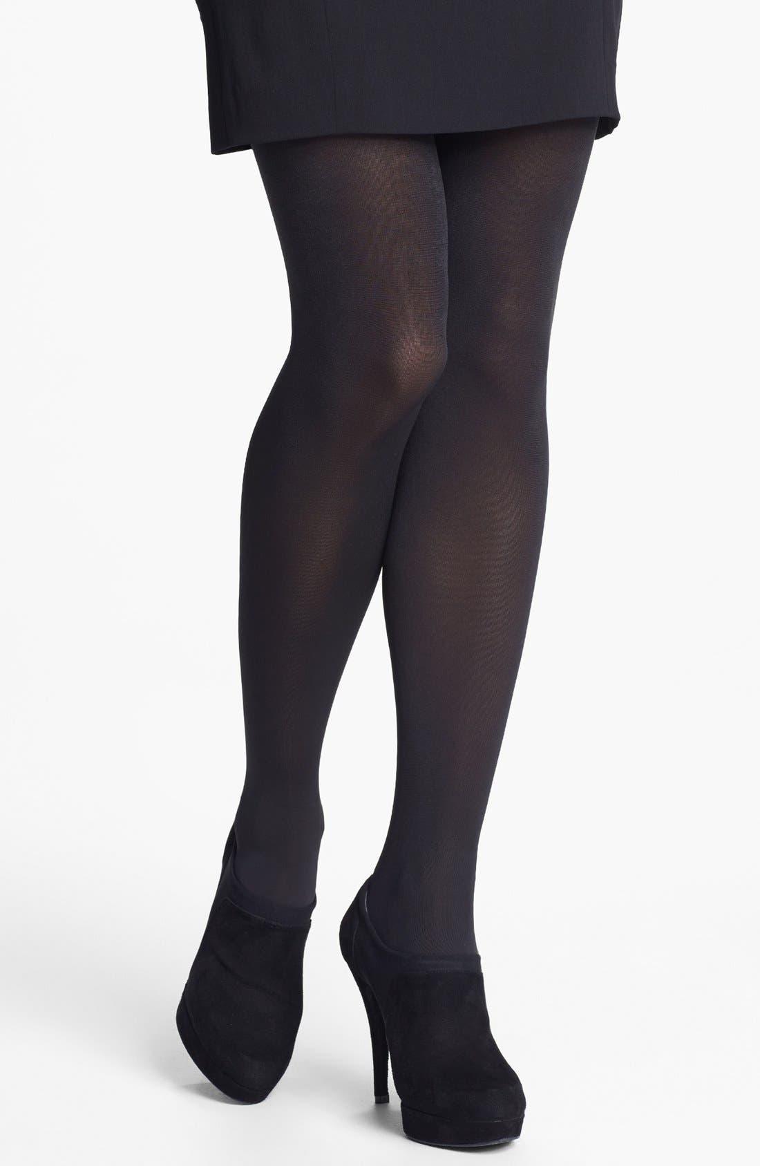 Alternate Image 2  - Donna Karan 'Evolution' Satin Jersey Tights
