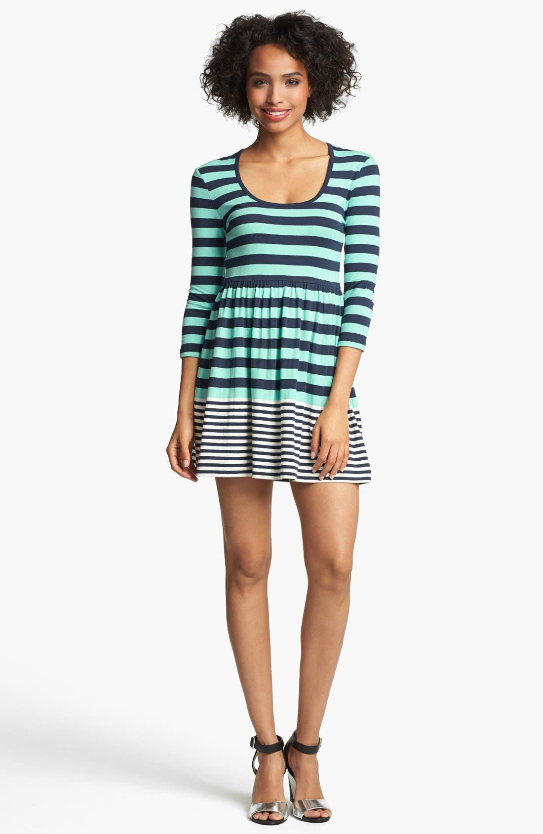 Main Image - French Connection 'Boulevard' Stripe Fit & Flare Dress