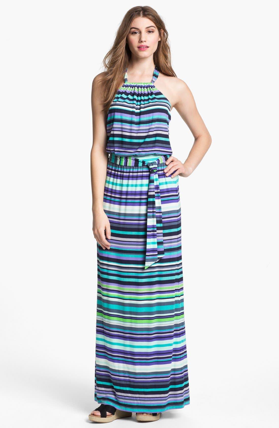 Main Image - Caslon® Halter Knit Maxi Dress (Petite)