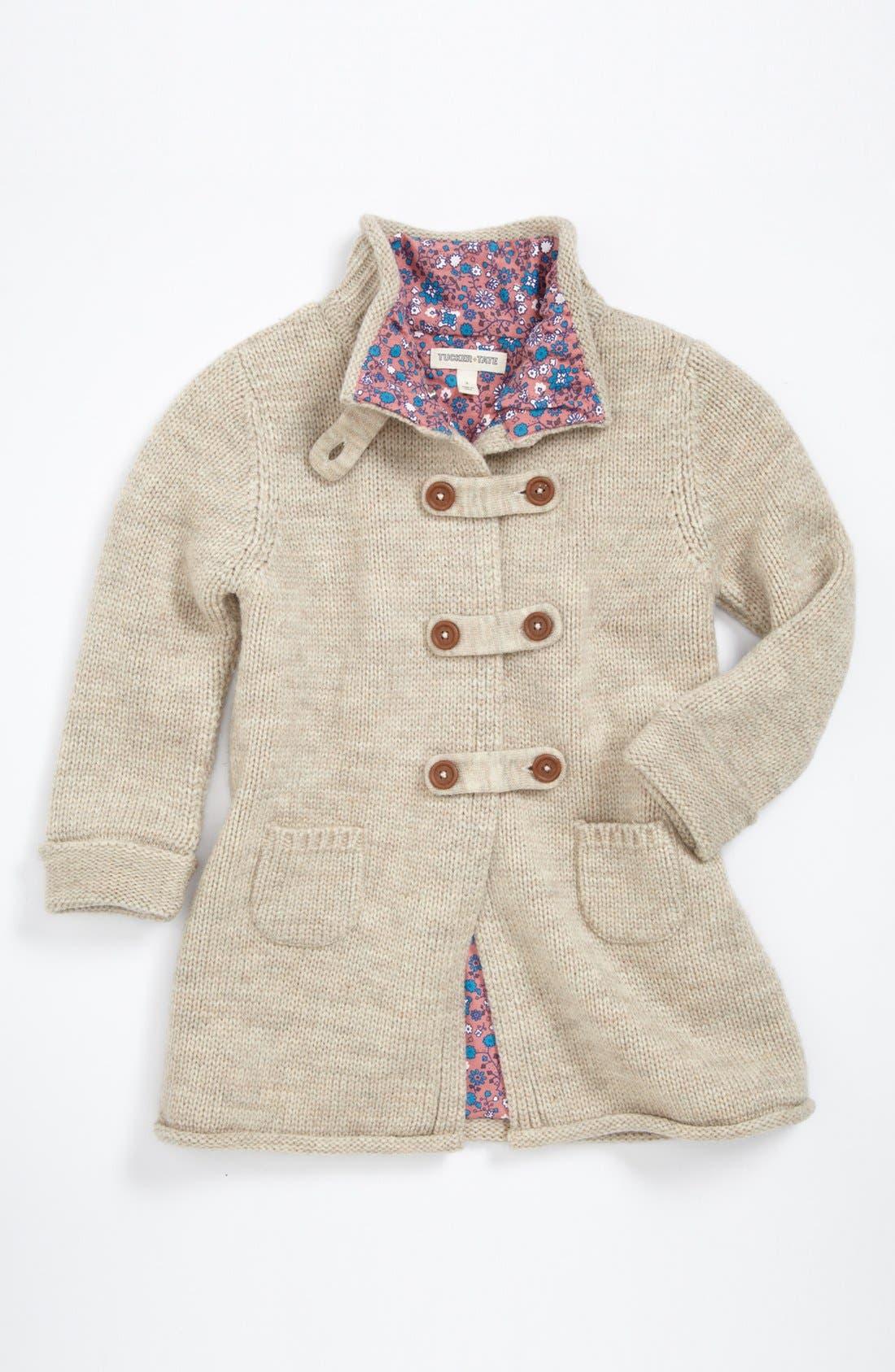 Alternate Image 1 Selected - Tucker + Tate 'Cory' Sweater Coat (Toddler Girls)