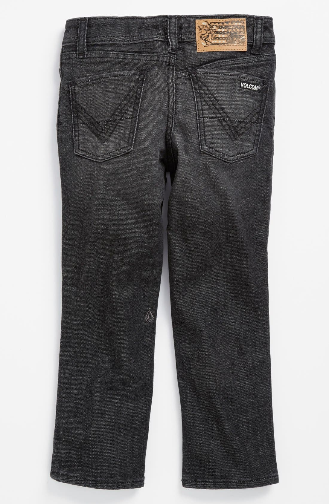 Main Image - Volcom 'Vorta' Slim Straight Leg Jeans (Little Boys)