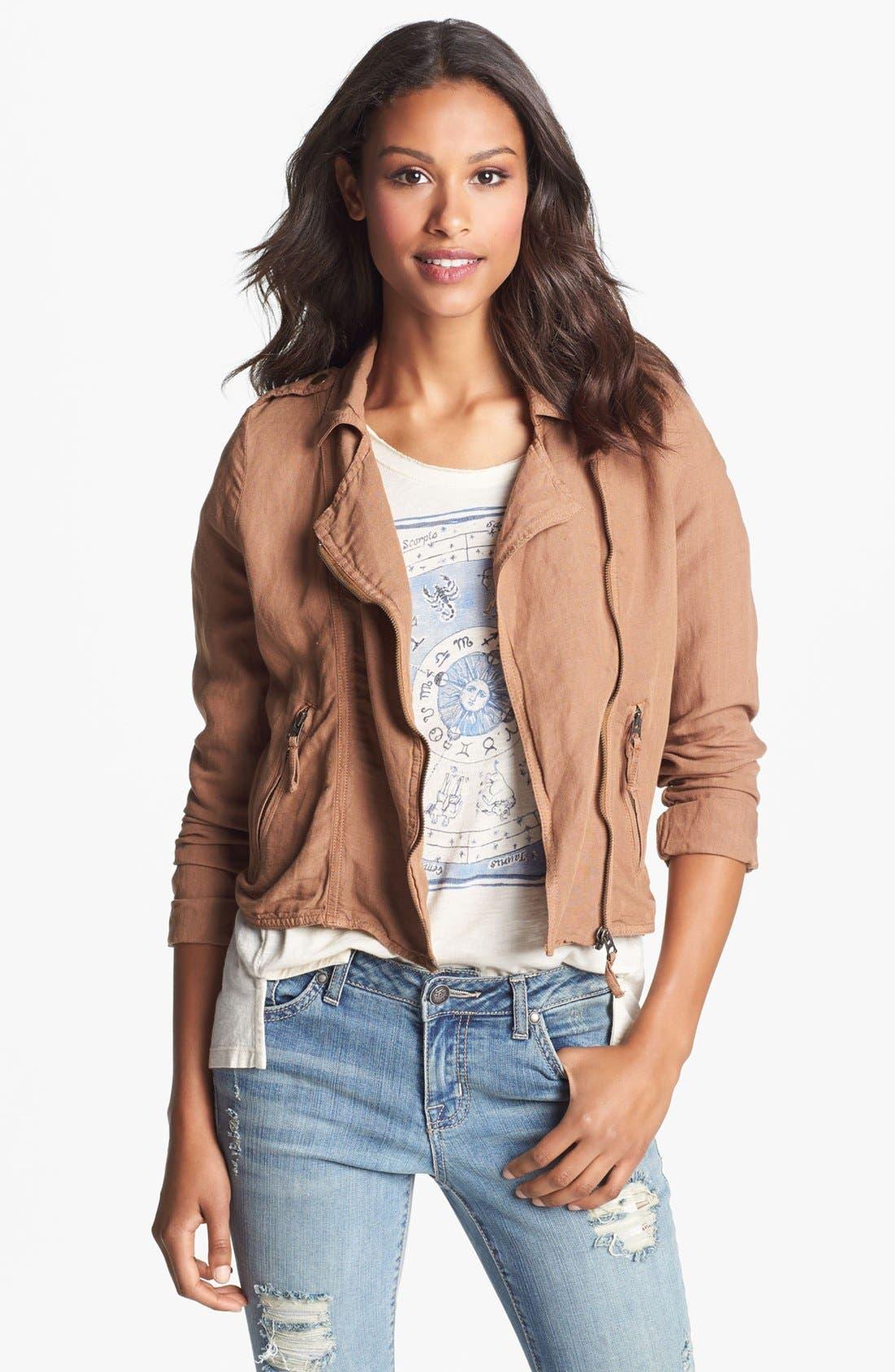 Alternate Image 1 Selected - Lucky Brand 'Addisyn' Moto Jacket