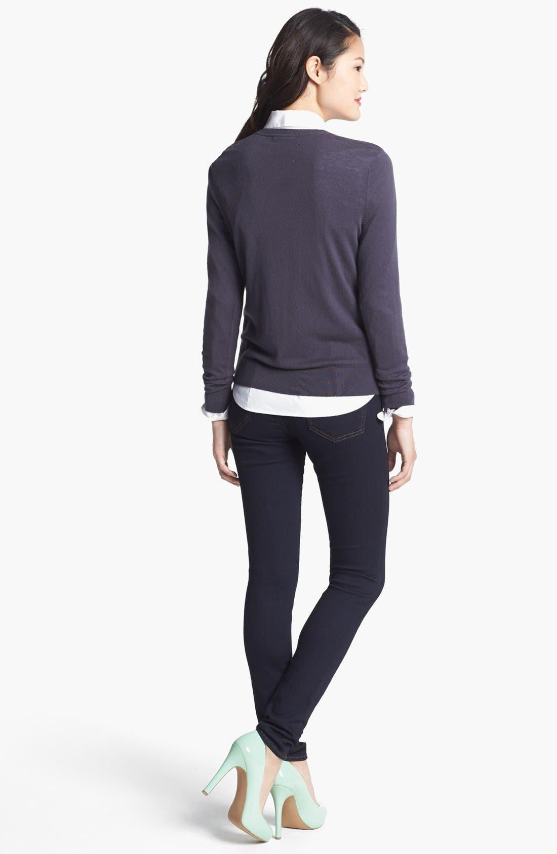 Alternate Image 2  - Halogen® 'Ava' Intarsia Sweater