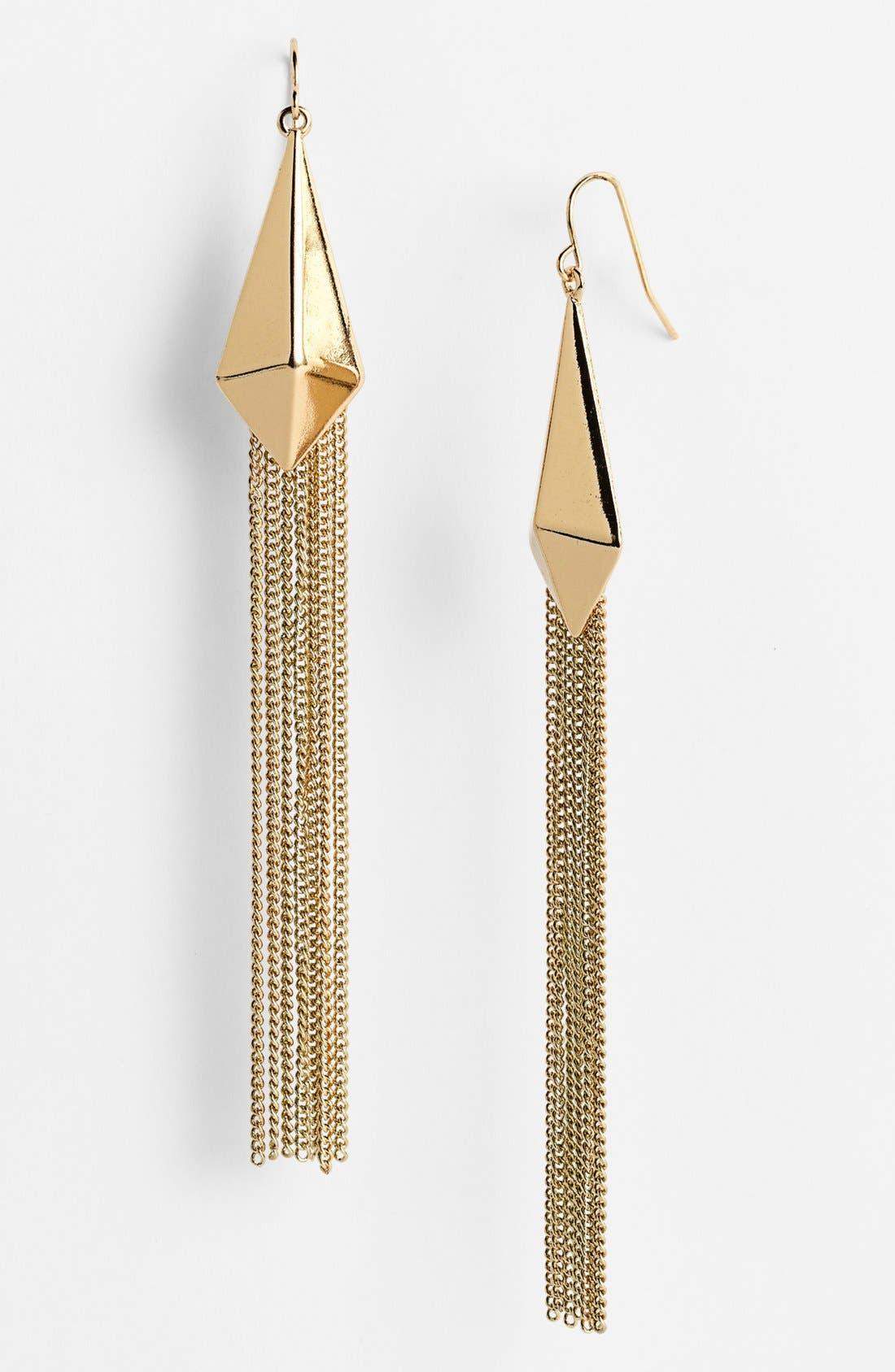 Alternate Image 1 Selected - Spring Street 'Pyramid Fringe' Drop Earrings