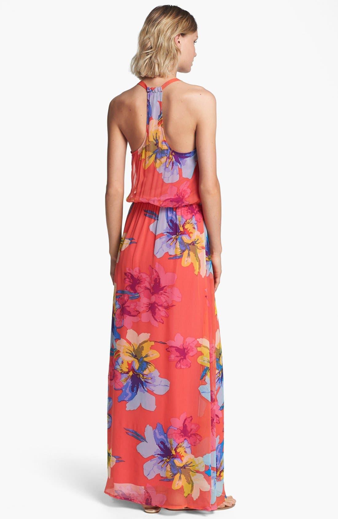 Alternate Image 2  - Ella Moss Print Silk Maxi Dress