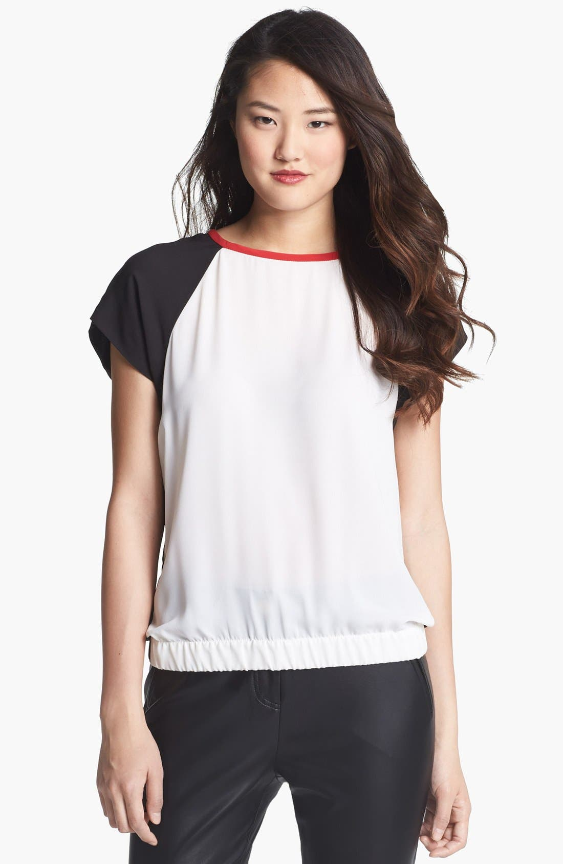 Alternate Image 2  - Vince Camuto Colorblock Blouse (Regular & Petite)
