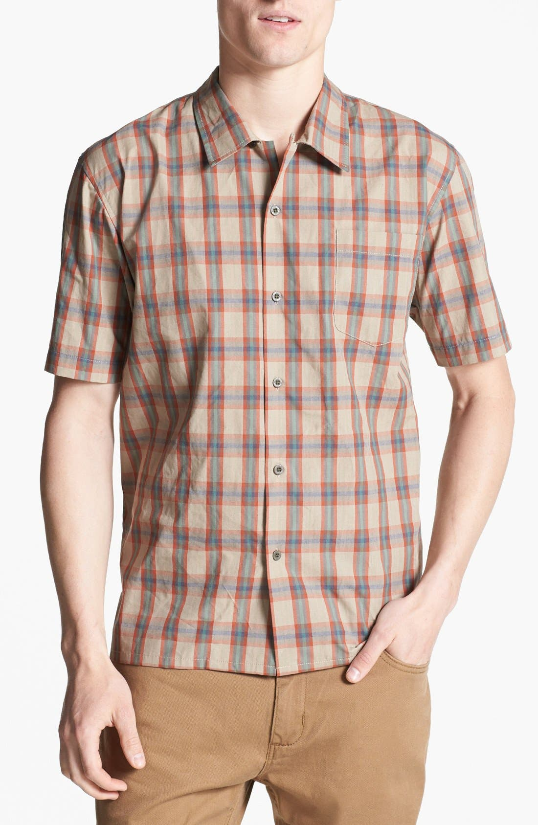 Alternate Image 1 Selected - Brixton 'Griffin' Plaid Woven Shirt