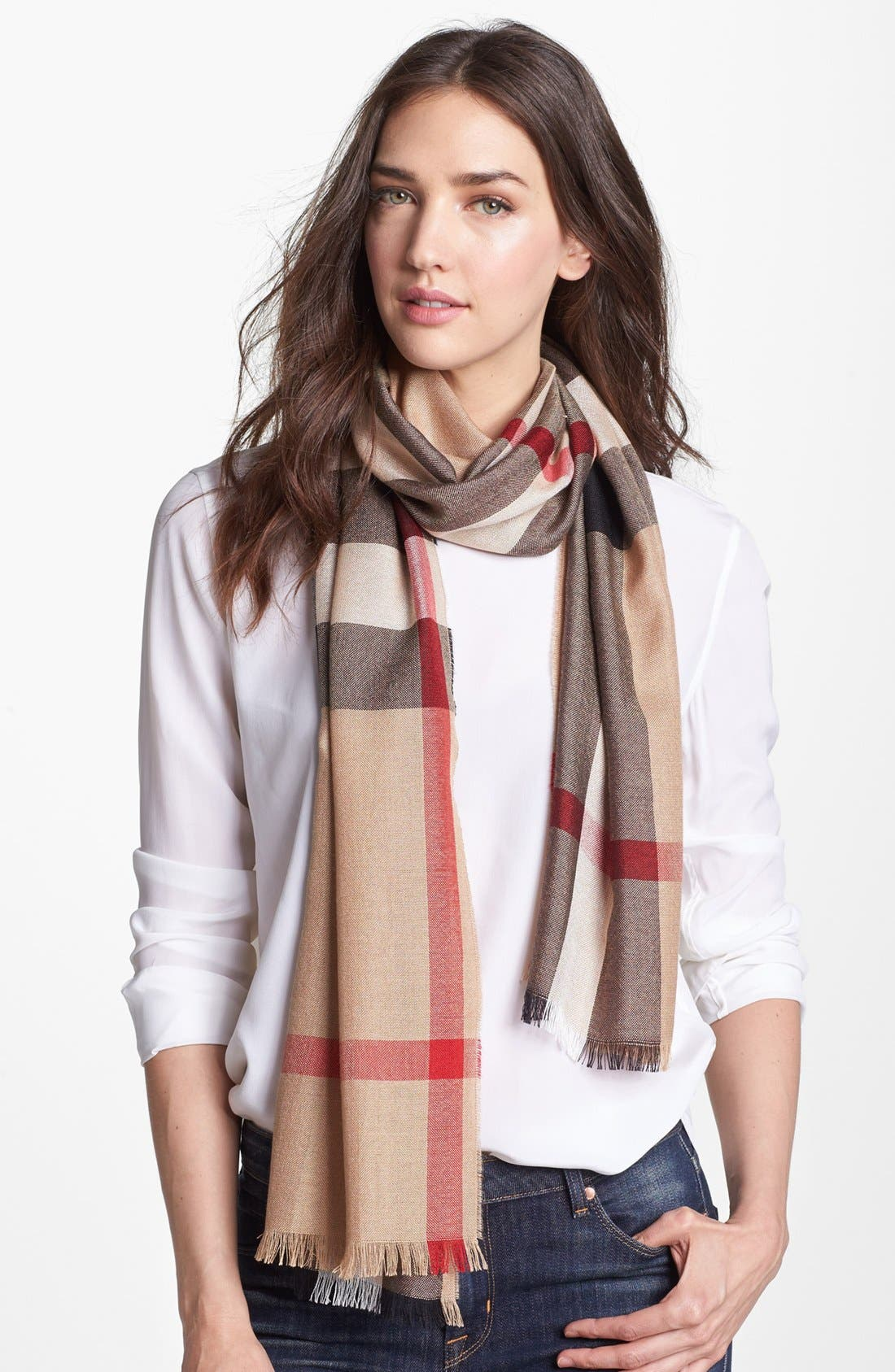 Alternate Image 1 Selected - Burberry Check Scarf
