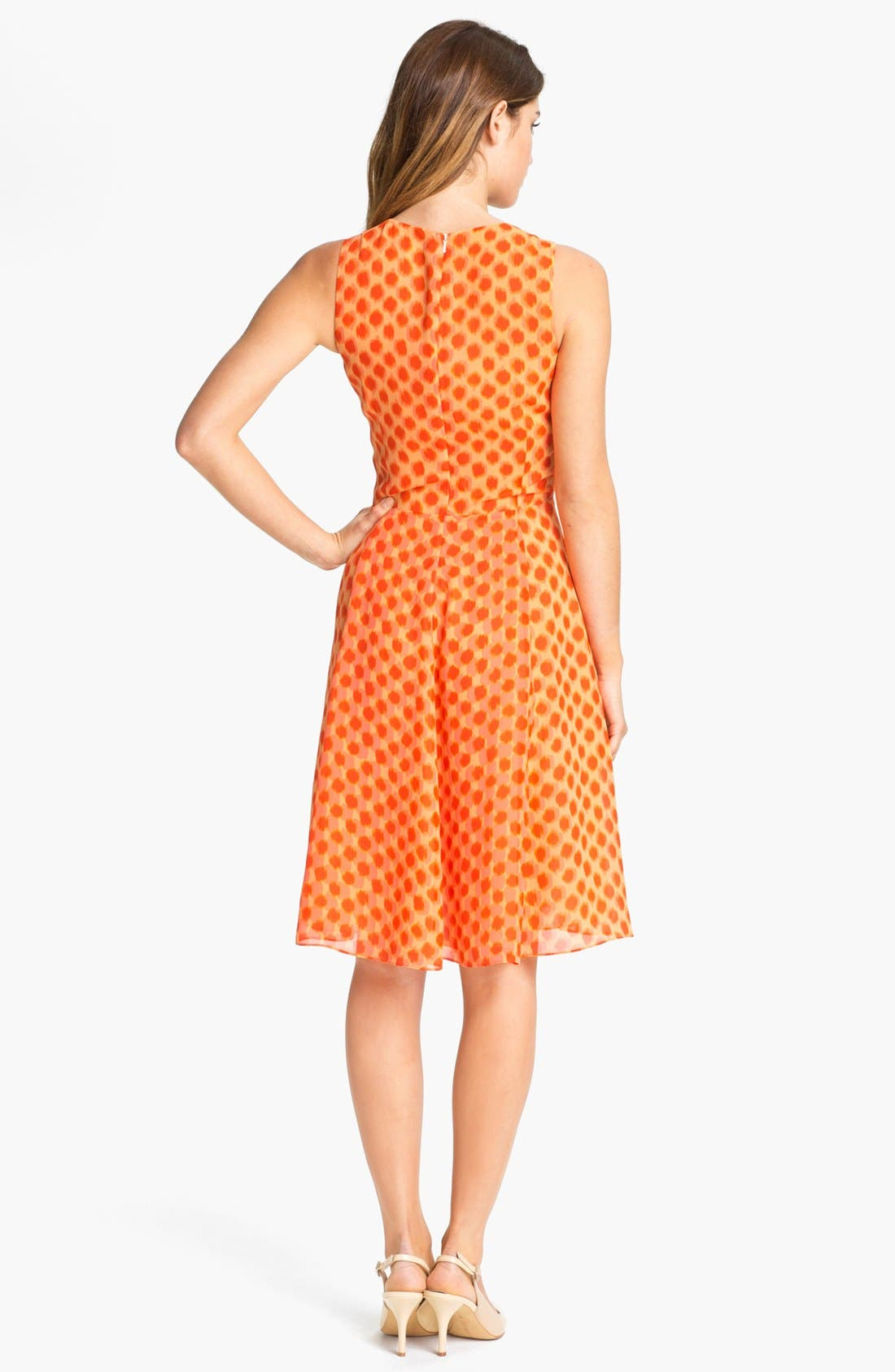 Alternate Image 2  - Vince Camuto Dot Faux Wrap Dress (Petite)