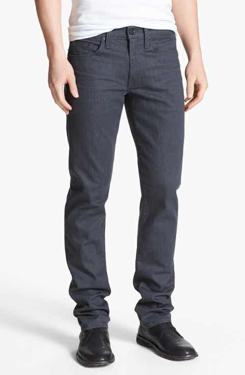 Men's Grey Wash Jeans, Relaxed, Bootcut Fit & Selvedge Denim ...