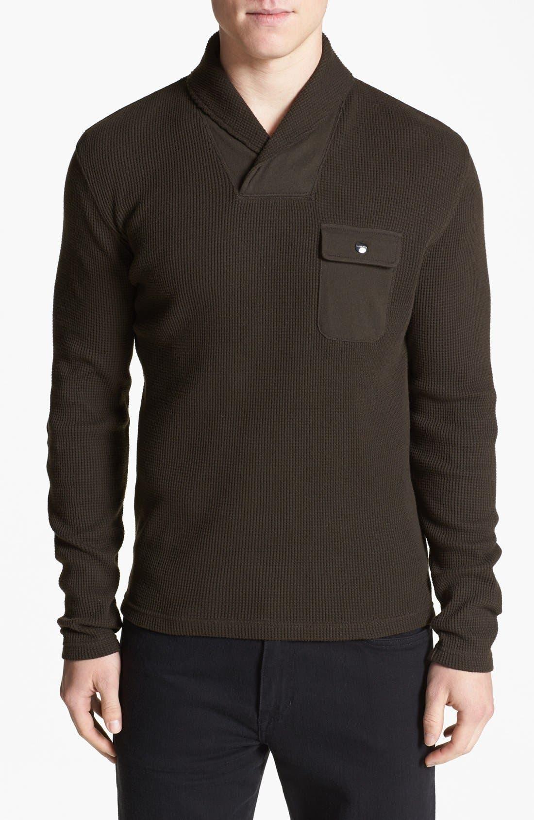 Alternate Image 1 Selected - Michael Kors 'Waffle Wrap' Sweater