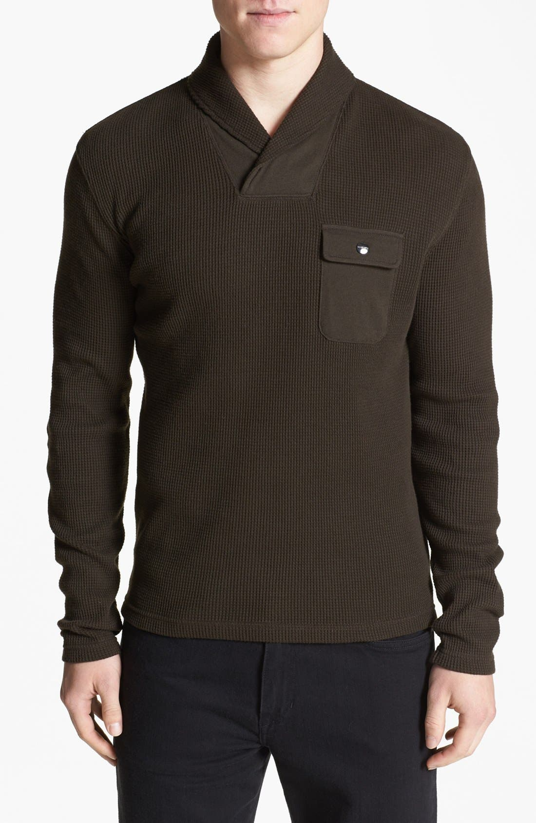 Main Image - Michael Kors 'Waffle Wrap' Sweater