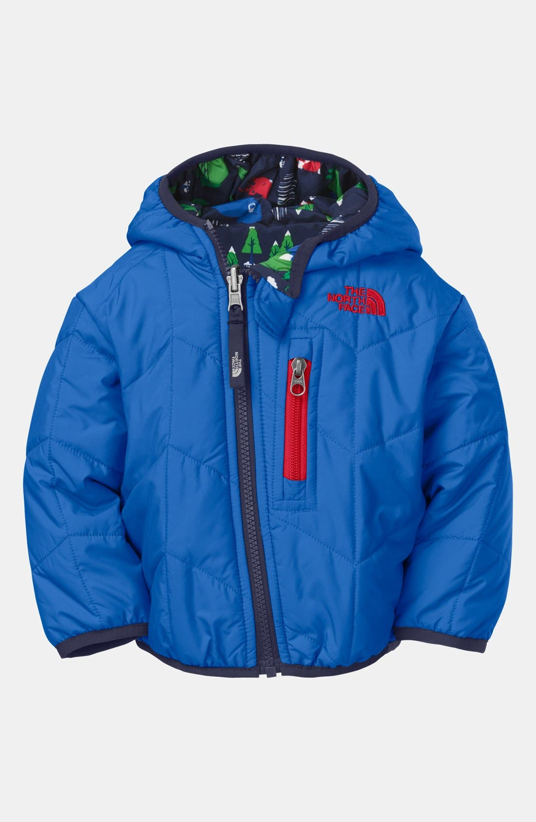 Main Image - The North Face 'Perrito' Chevron Quilted Reversible Jacket (Baby Boys)