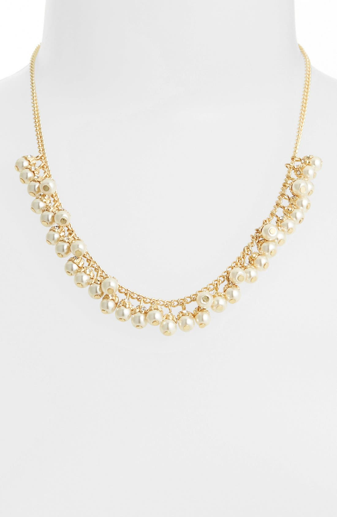 Alternate Image 2  - Anne Klein Faux Pearl Frontal Necklace