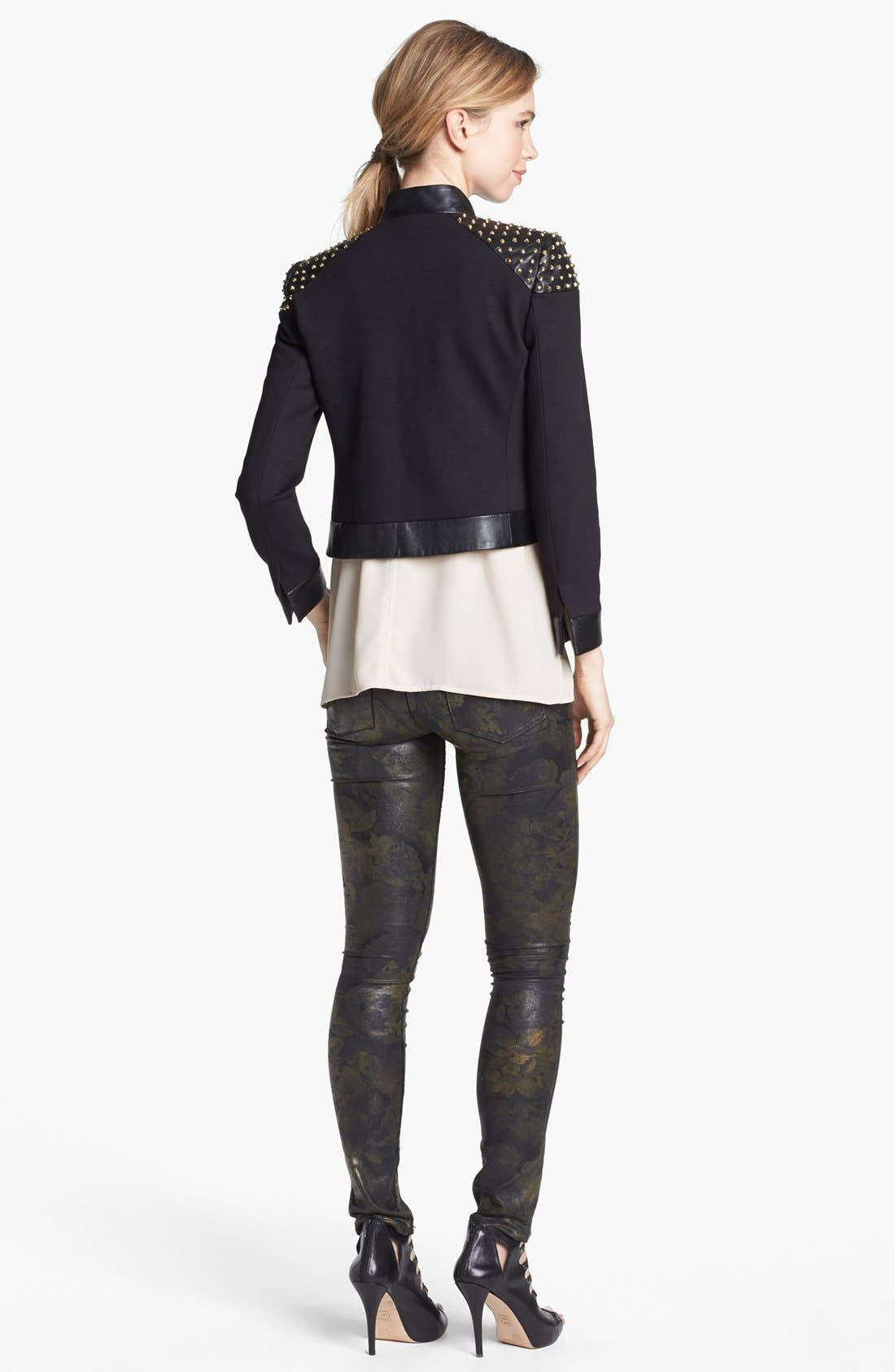 Alternate Image 3  - Two by Vince Camuto Coated Print Skinny Jeans