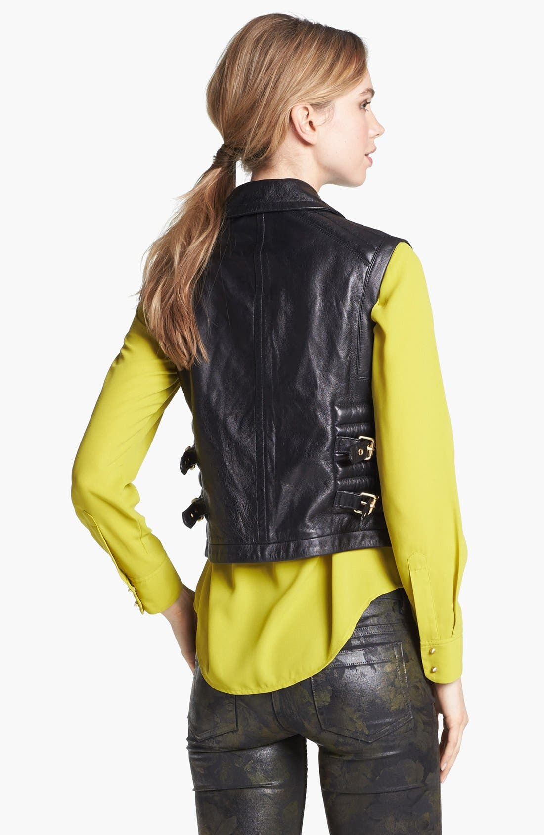 Alternate Image 4  - Vince Camuto Faux Leather Moto Vest