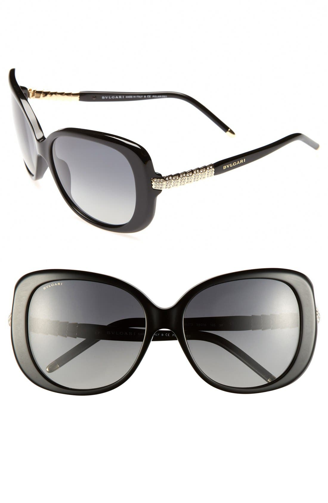 Main Image - BVLGARI 59mm Retro Sunglasses