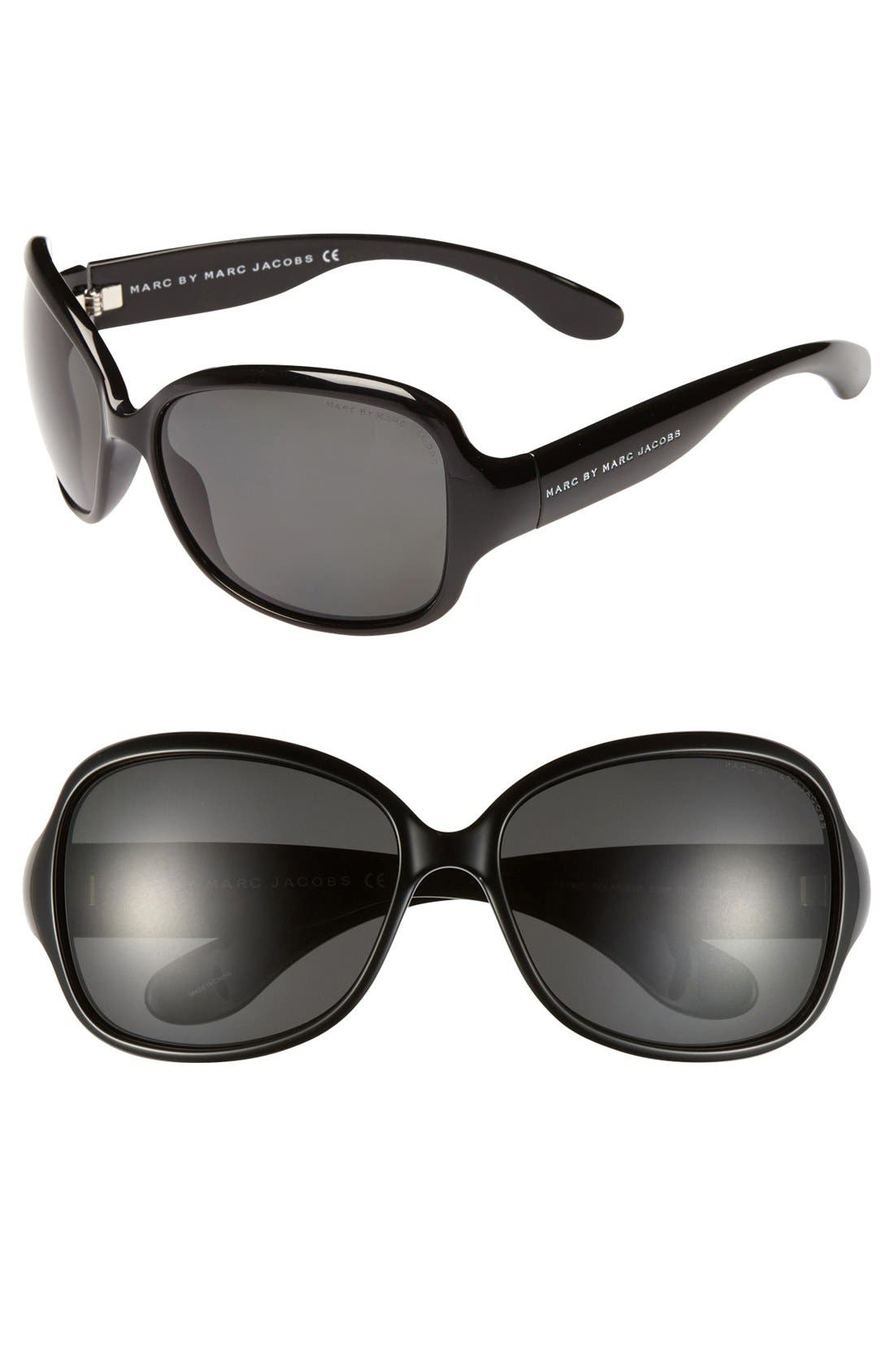 Alternate Image 1 Selected - MARC BY MARC JACOBS Polarized Oversized Sunglasses