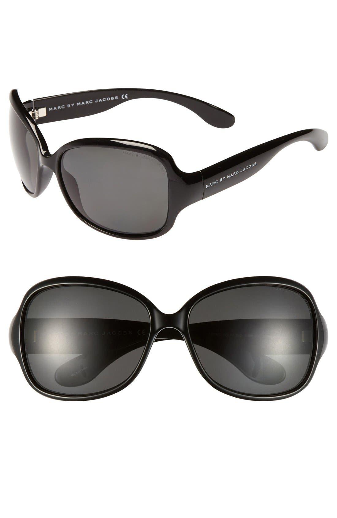 Main Image - MARC BY MARC JACOBS Polarized Oversized Sunglasses