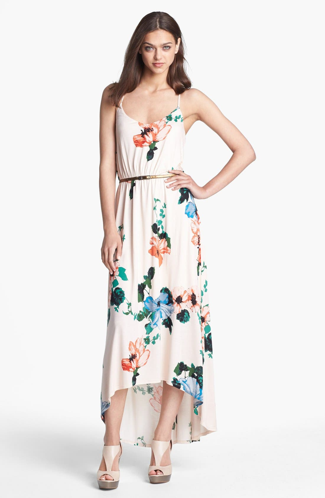 Alternate Image 1 Selected - Felicity & Coco Hawaiian Print Belted Maxi Dress (Nordstrom Exclusive)