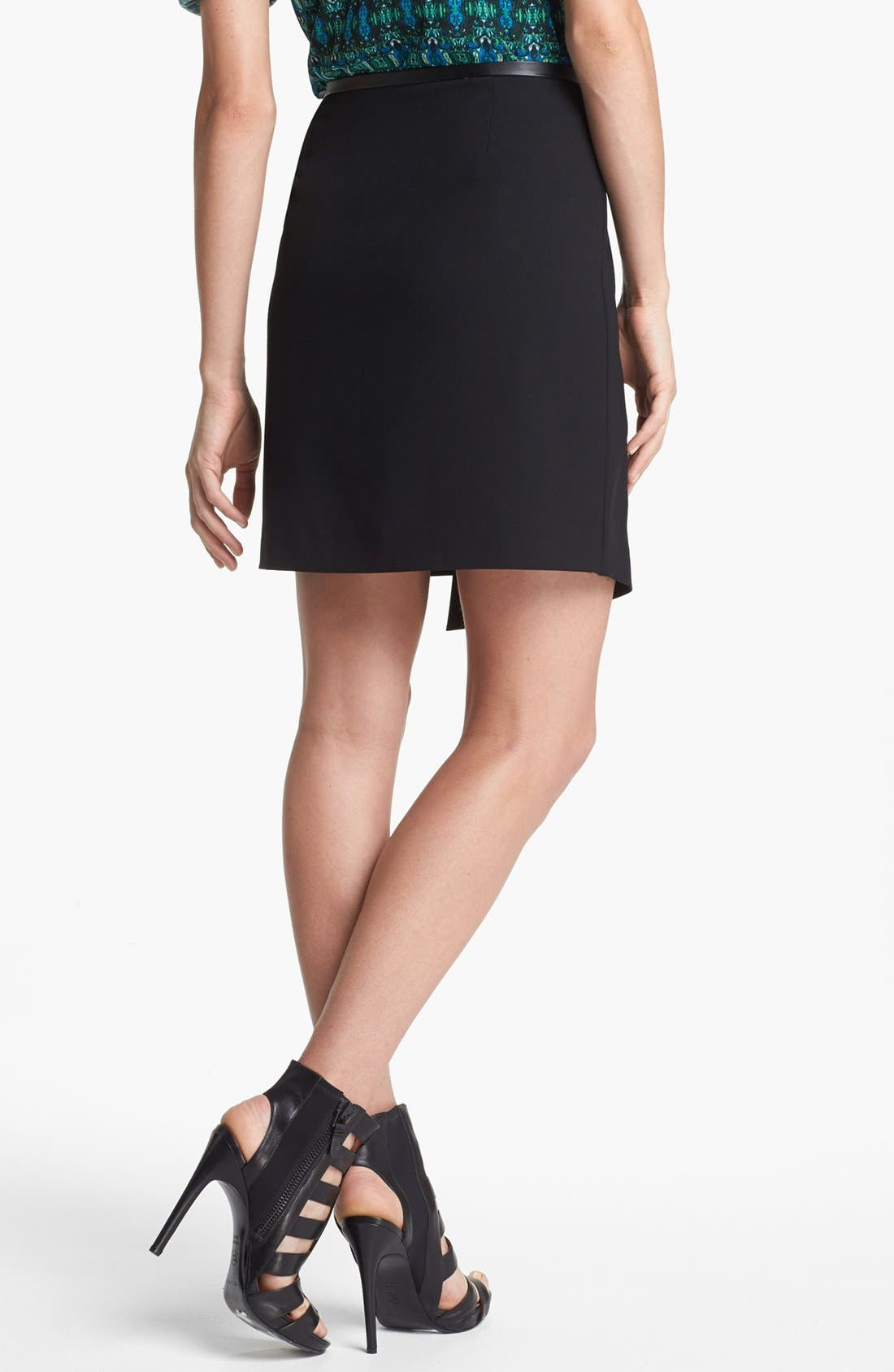 Alternate Image 4  - Vince Camuto Faux Leather Trim Envelope Skirt