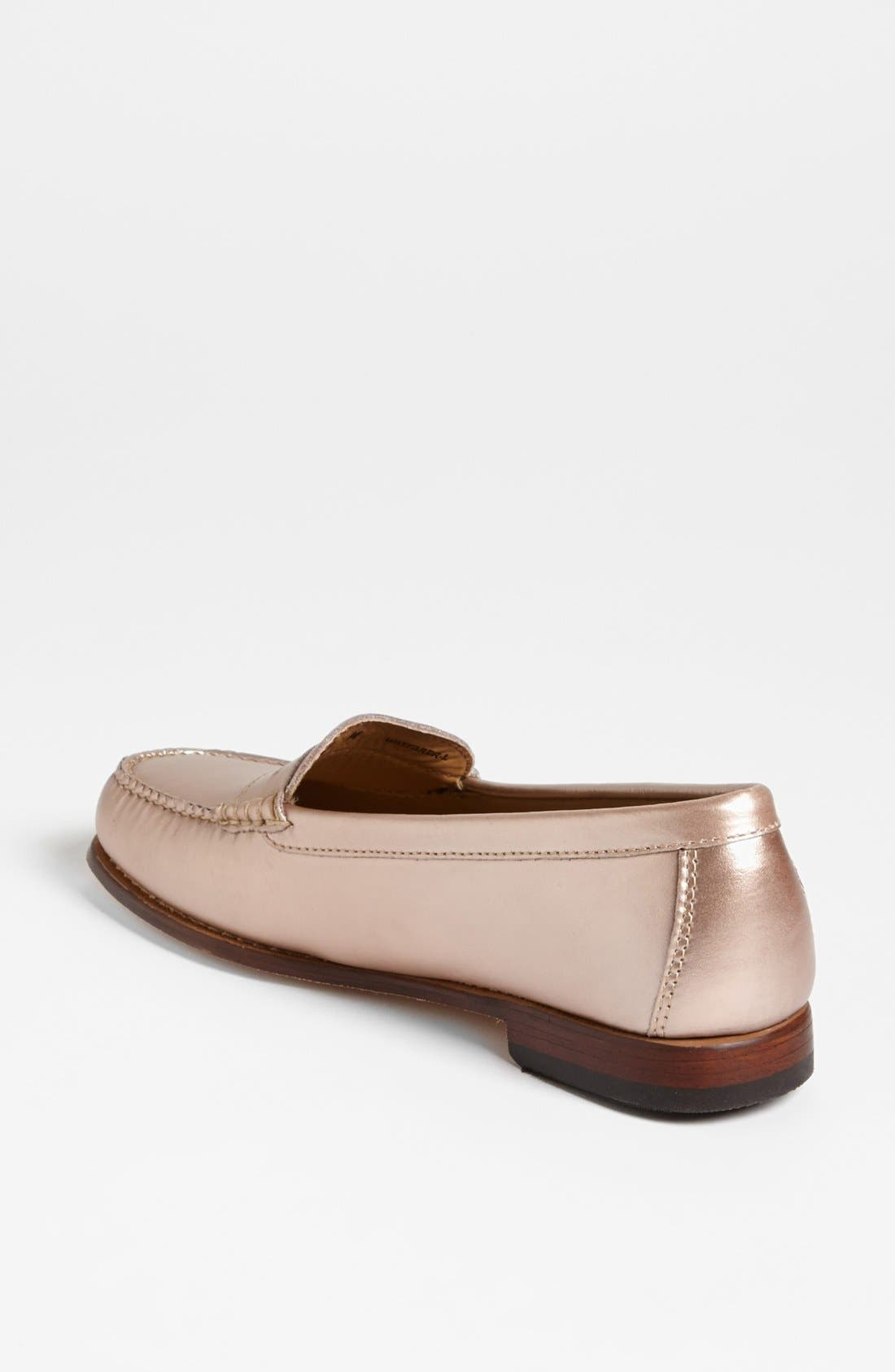Alternate Image 2  - G.H. Bass & Co. Metallic Leather Loafer Flat