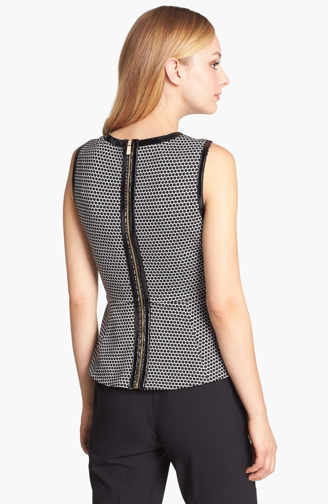 Alternate Image 2  - Vince Camuto Faux Leather Trim Peplum Top (Online Only)