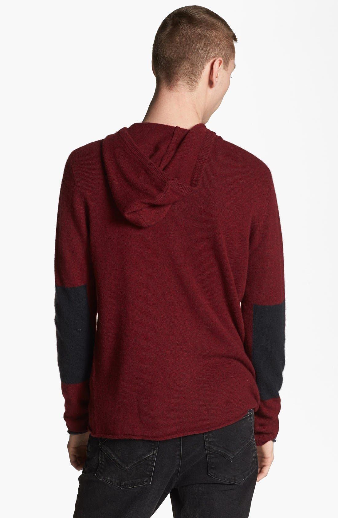 Alternate Image 2  - Zadig & Voltaire Cashmere Zip Hoodie with Elbow Patches