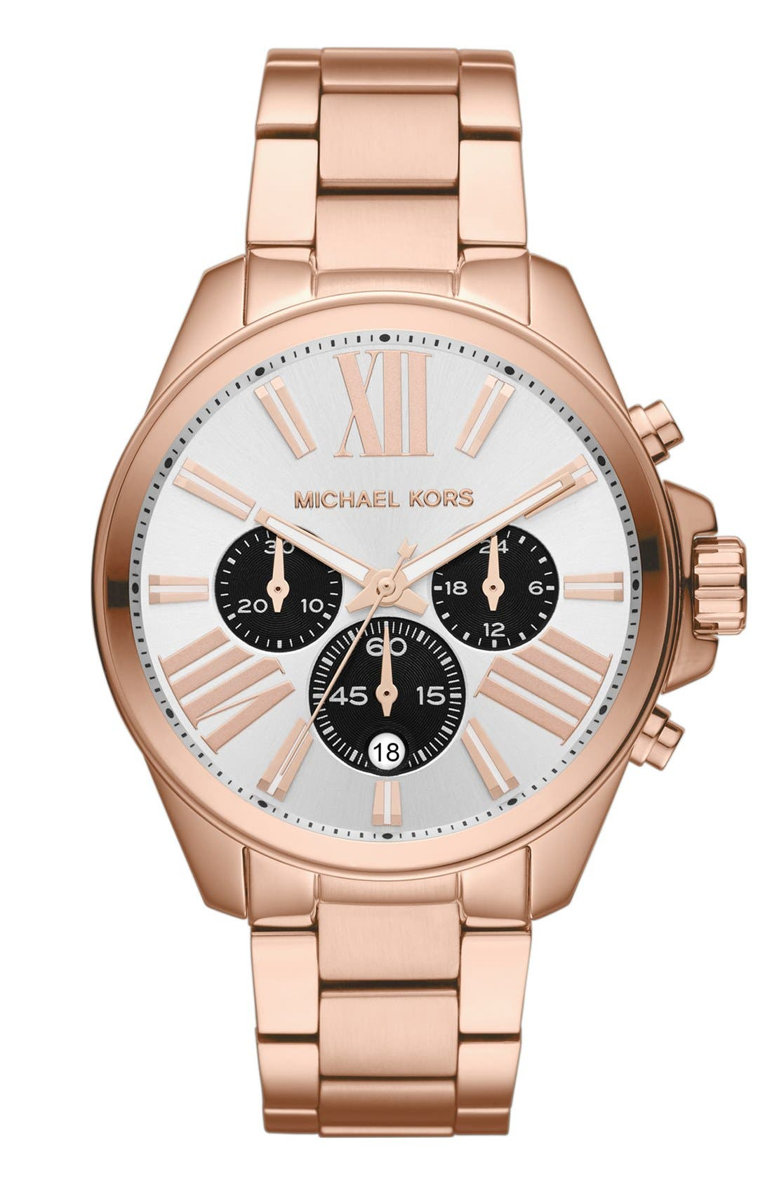 Alternate Image 1 Selected - Michael Kors 'Wren' Chronograph Bracelet Watch, 42mm