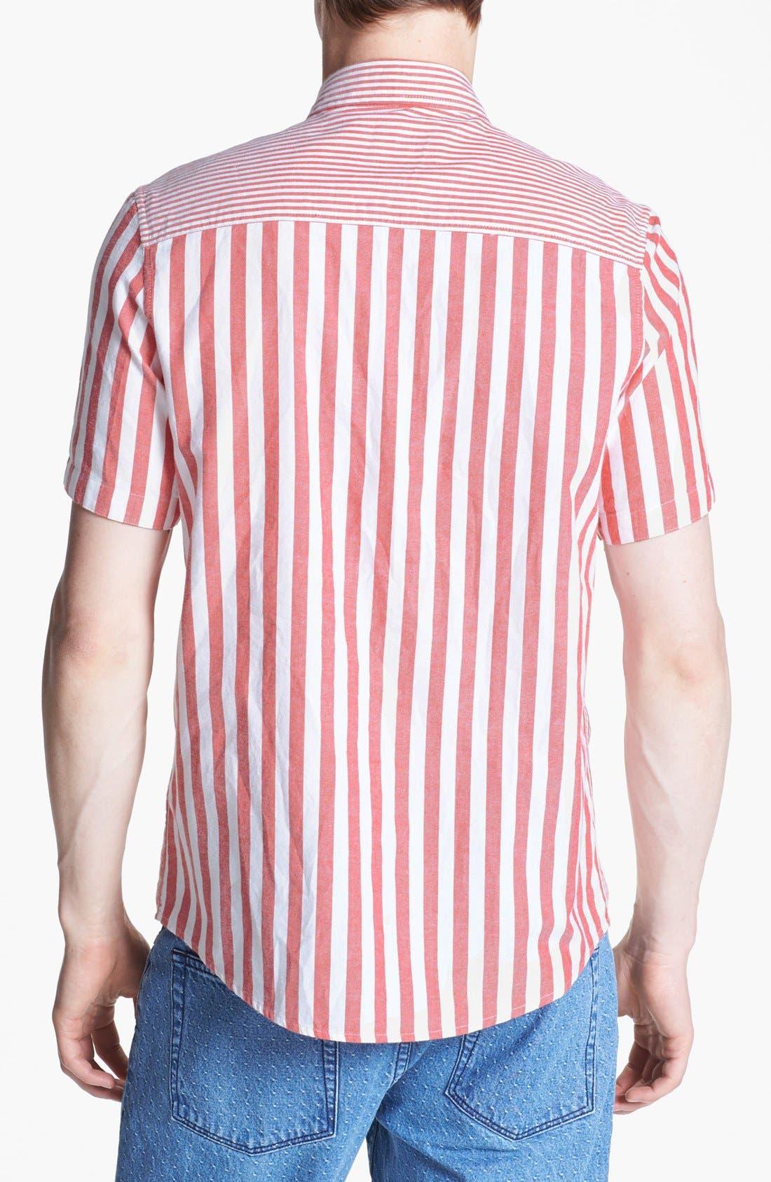 Alternate Image 2  - Topman Mixed Stripe Panel Shirt