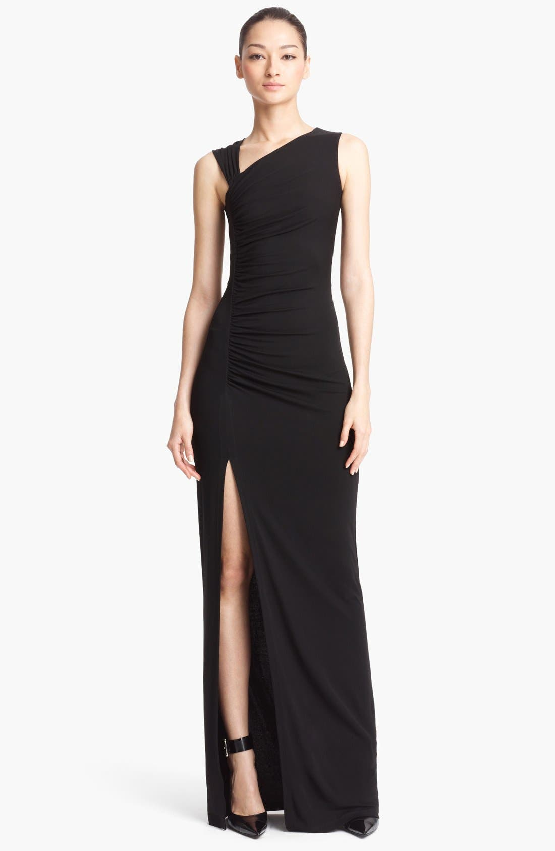 Main Image - Michael Kors Sleeveless Ruched Jersey Gown